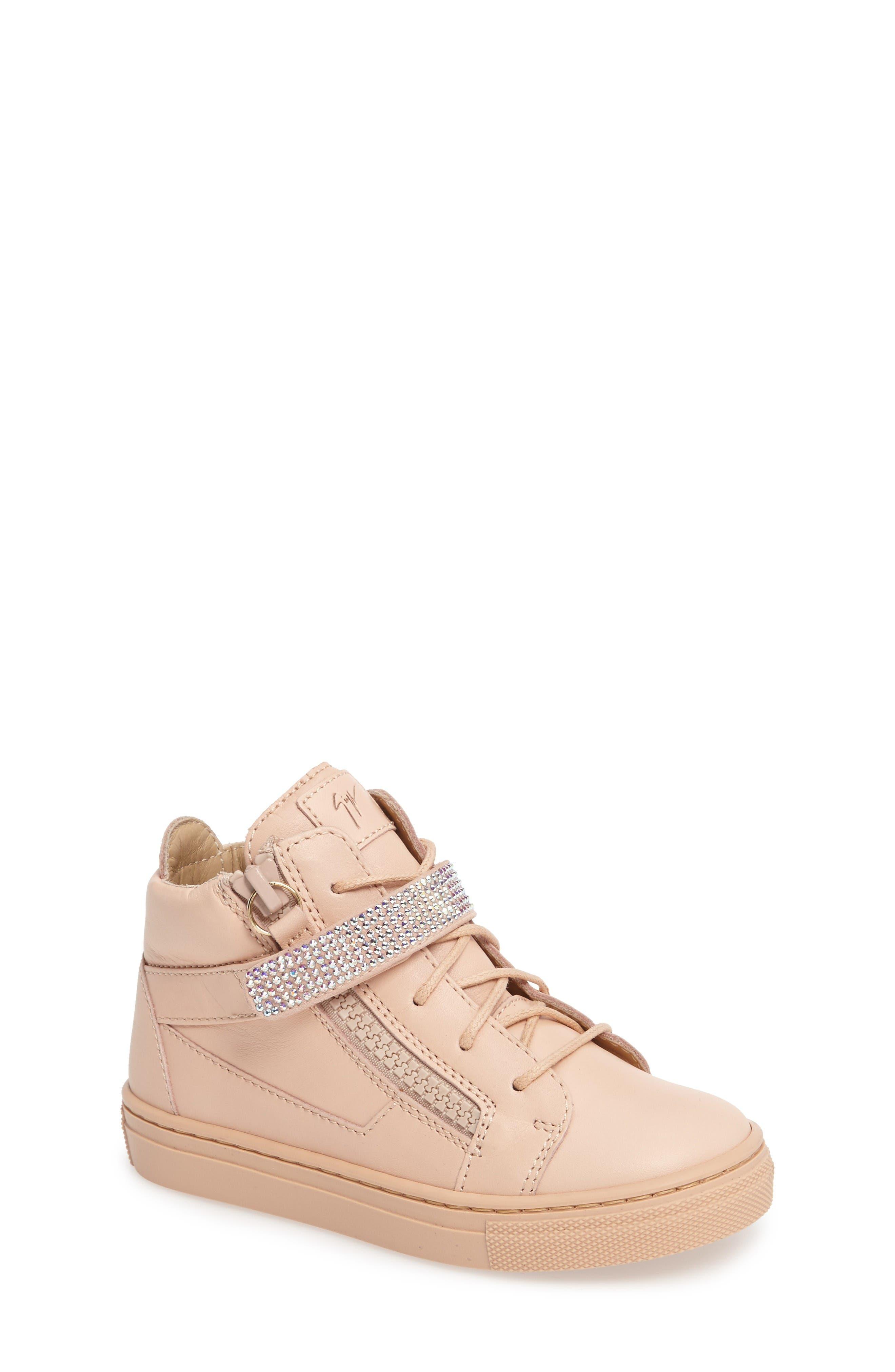 GIUSEPPE ZANOTTI Swarovski Crystal Embellished High Top Sneaker