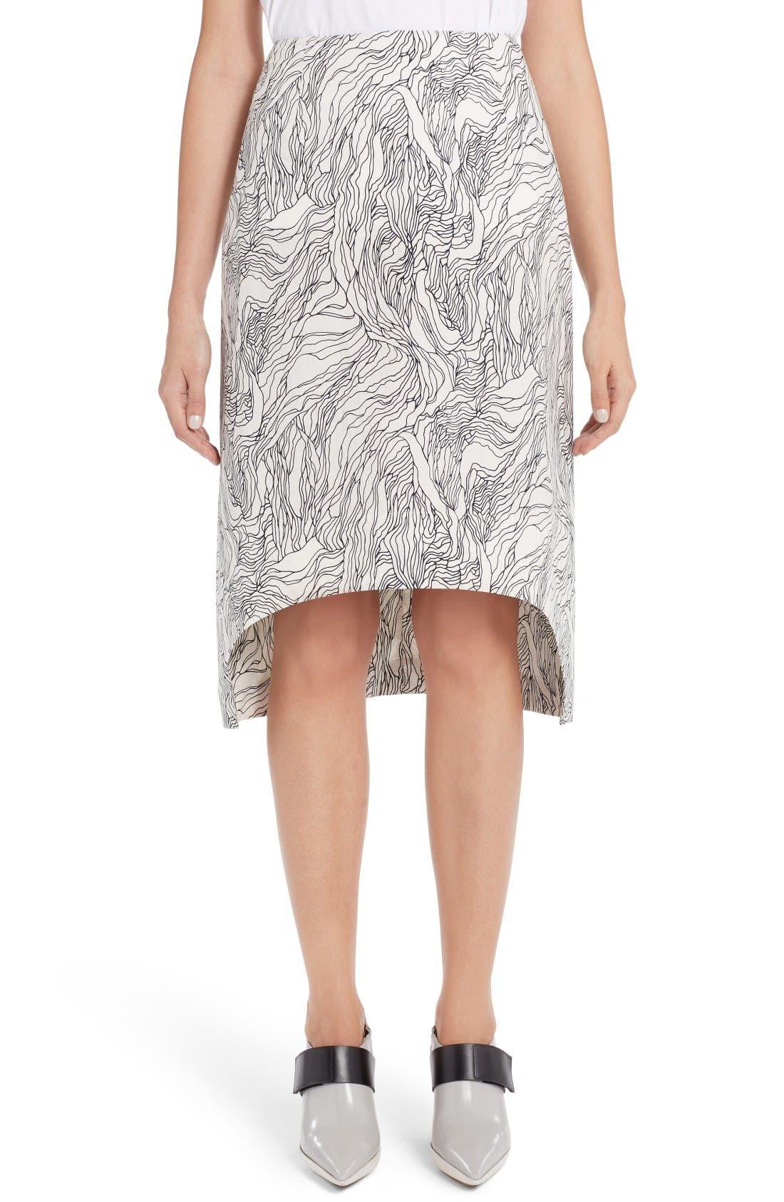 MARNI Beardsley Print Poplin Skirt