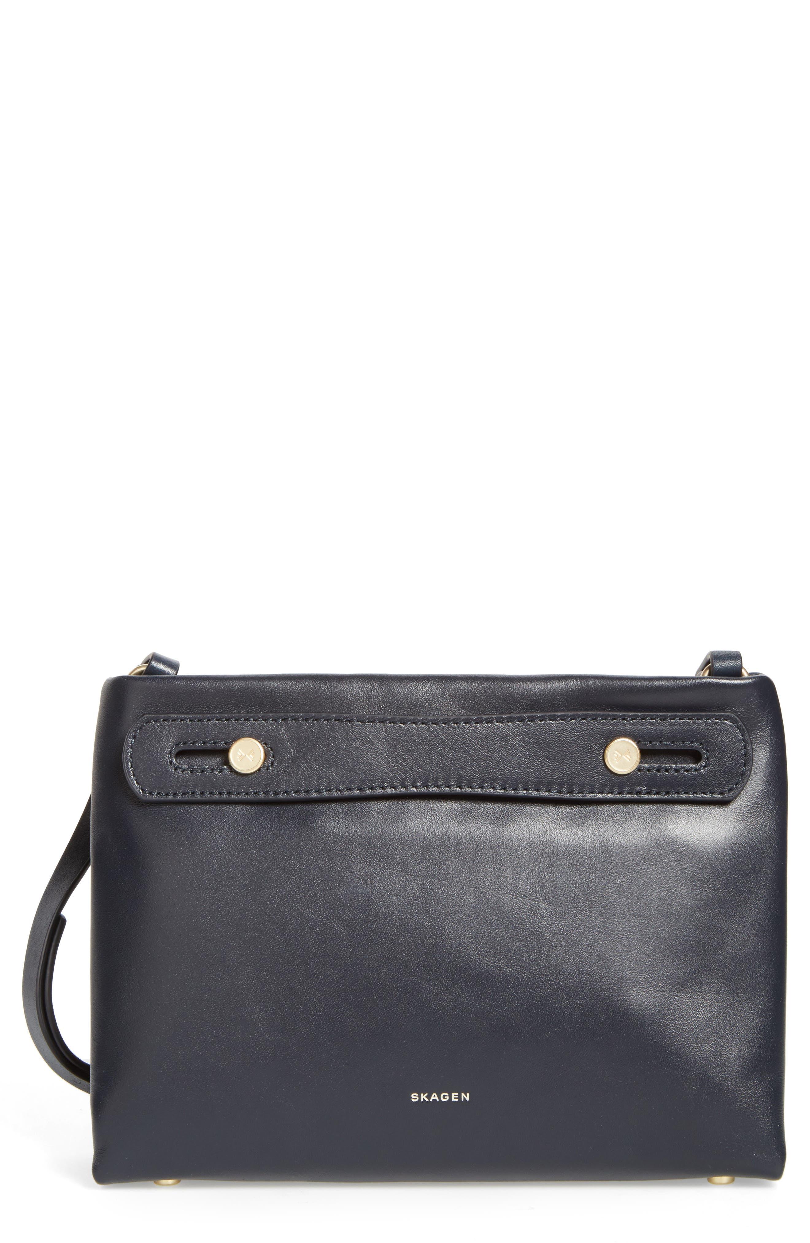 Main Image - Skagen Mini Mikkeline Leather Satchel