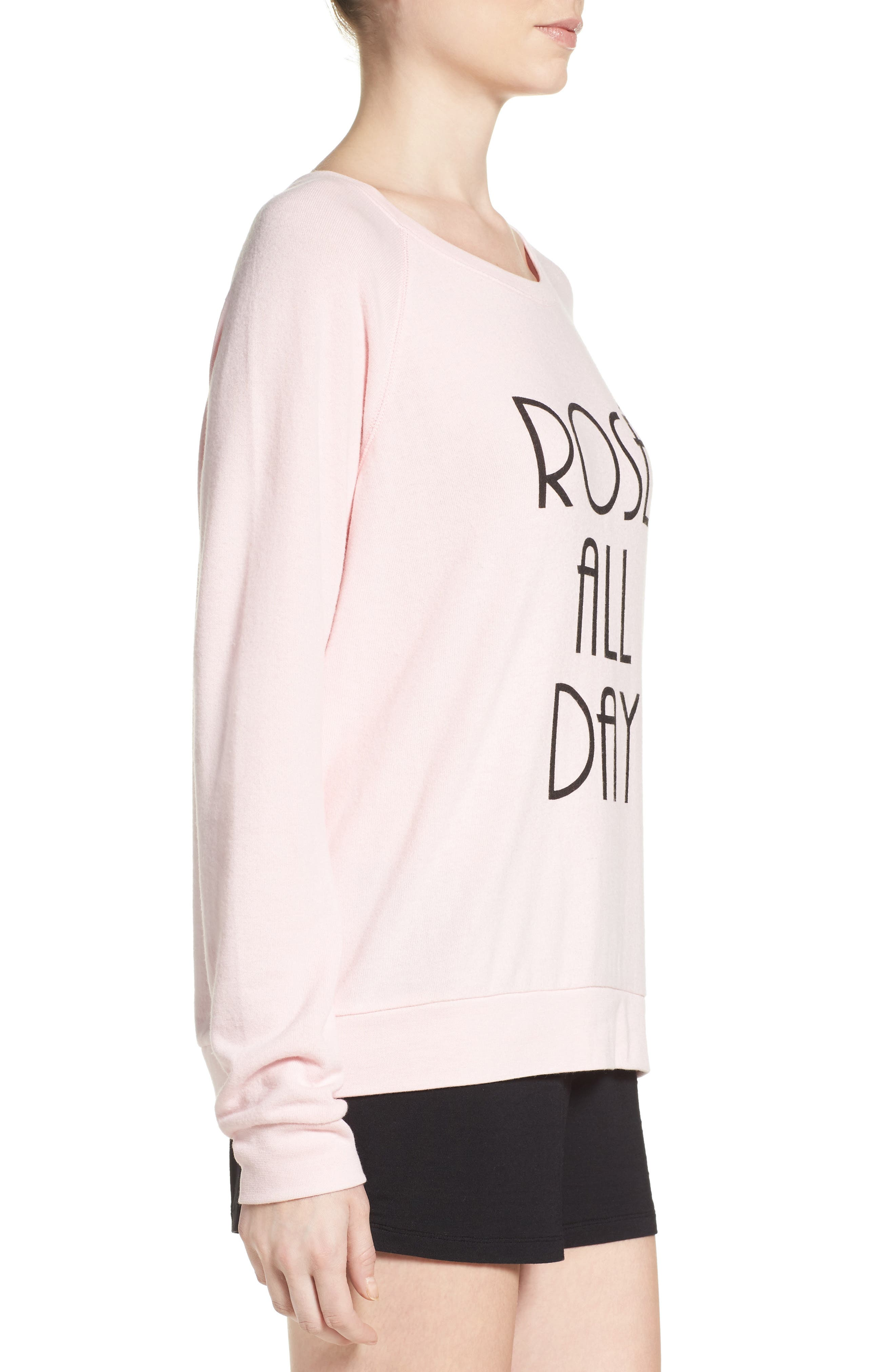 Alternate Image 3  - PJ Salvage Rosé All Day Sweatshirt
