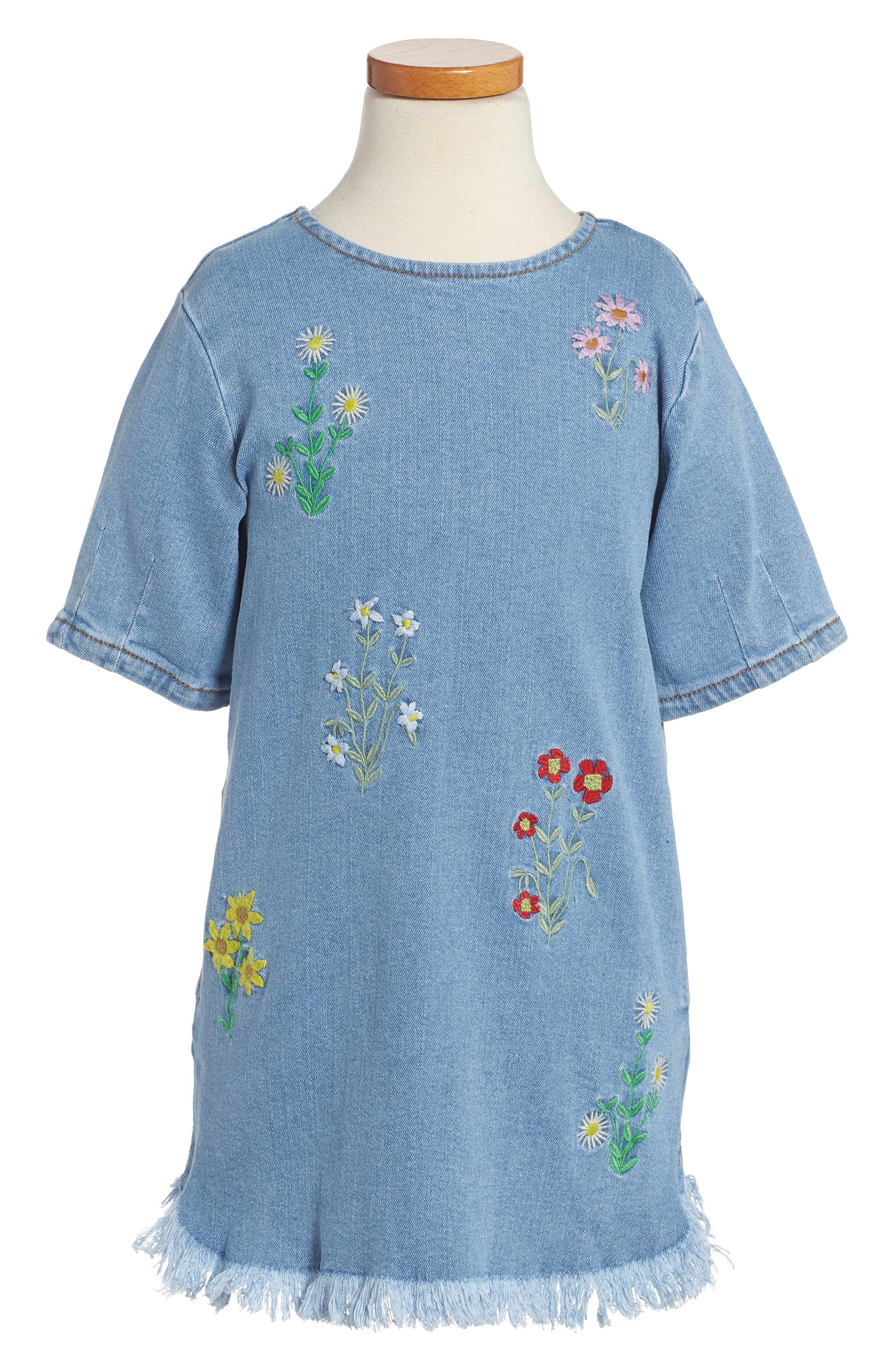 Stella McCartney Bess Embroidered Chambray Dress (Toddler Girls, Little Girls & Big Girls)