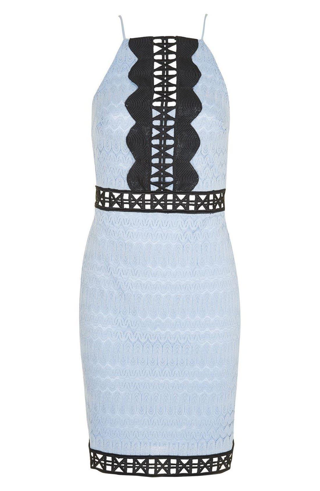 Alternate Image 3  - Topshop Crochet Trim Lace Dress (Regular & Petite)