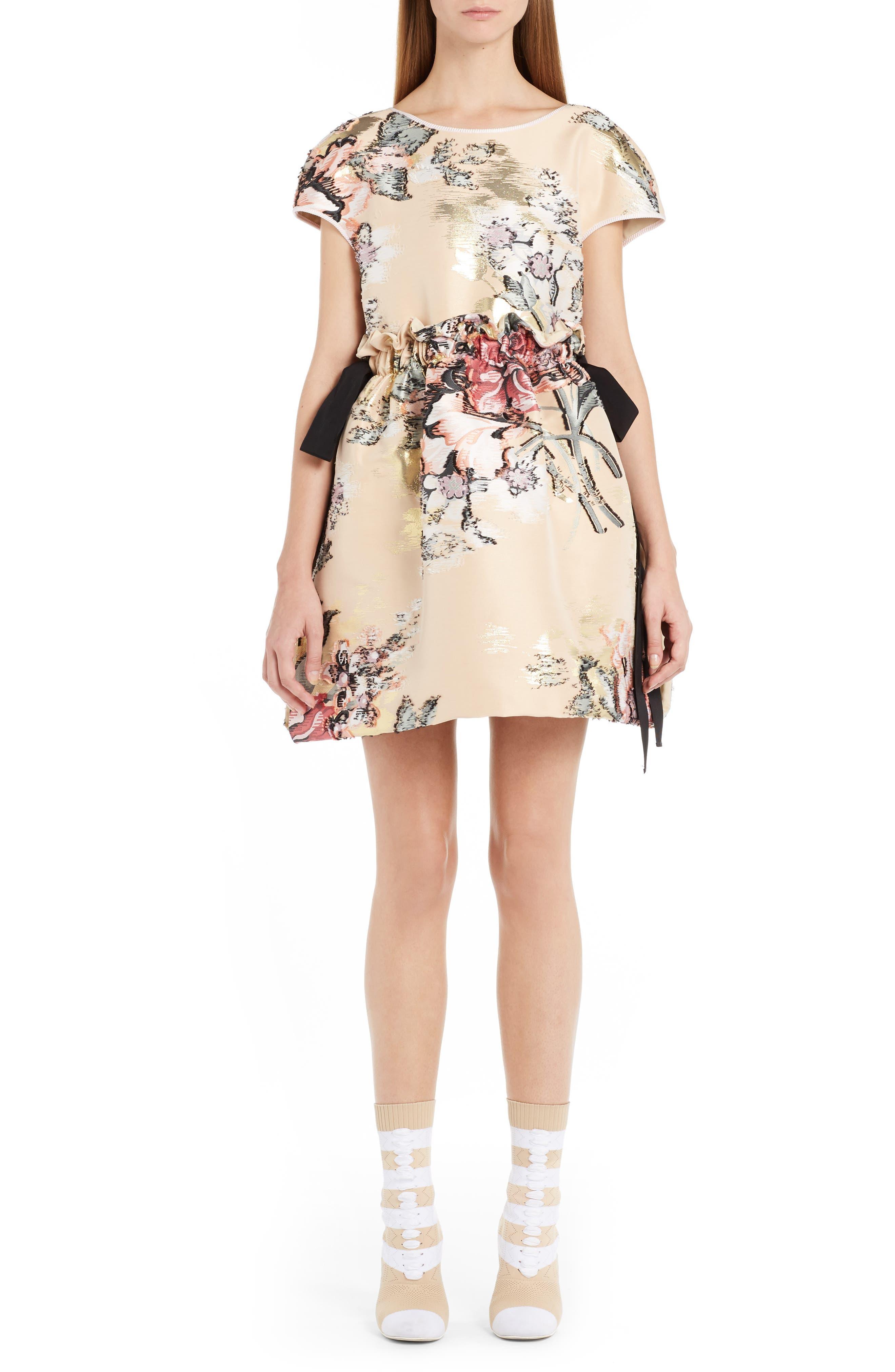 Main Image - Fendi Fil Coupé Floral Brocade Dress