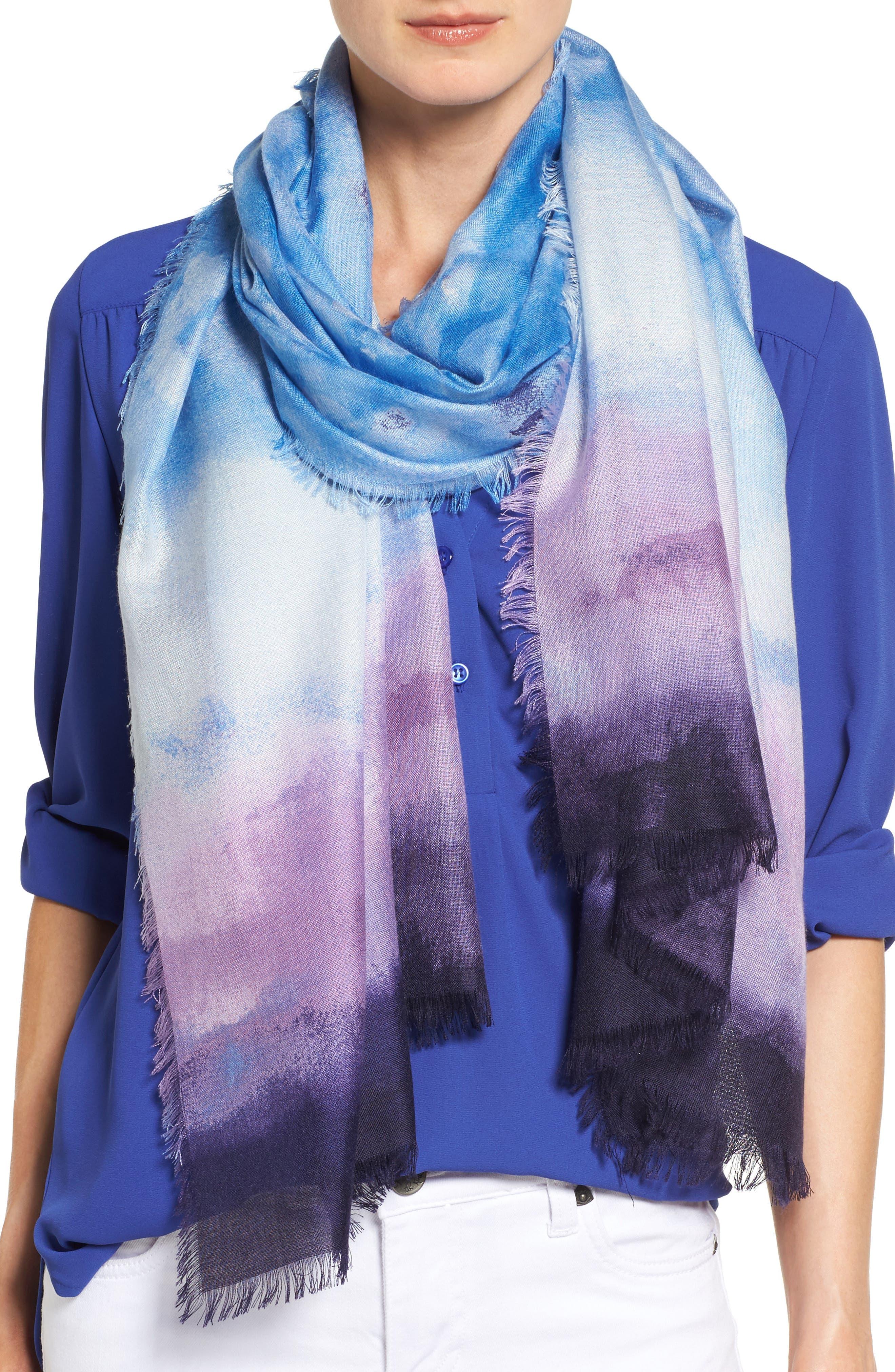 nordstrom saharan colorwash silk scarf nordstrom