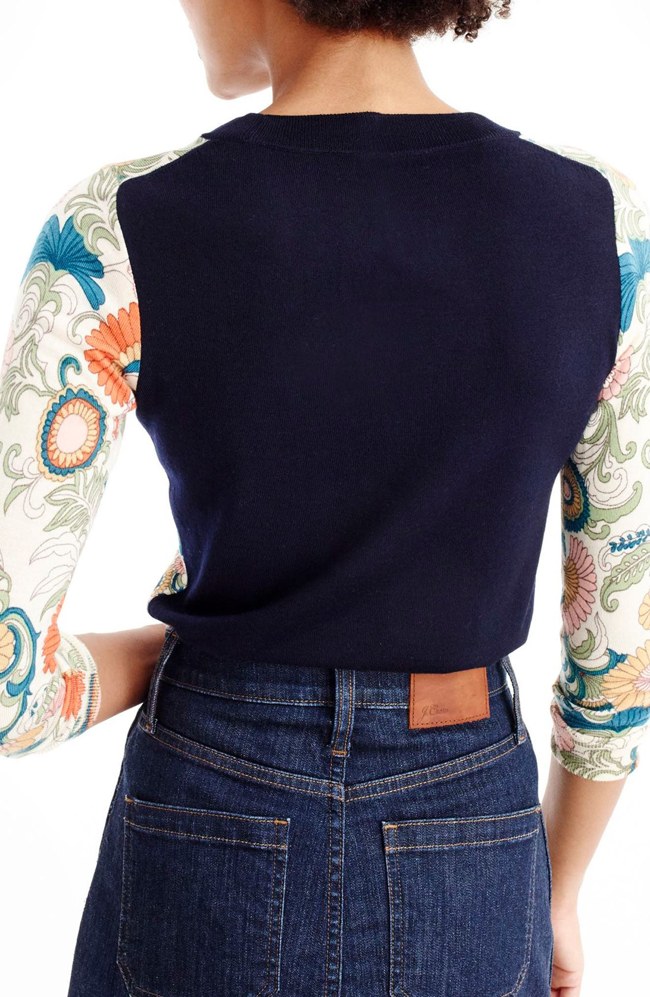 Alternate Image 2  - J.Crew Tippi Ornate Floral Sweater