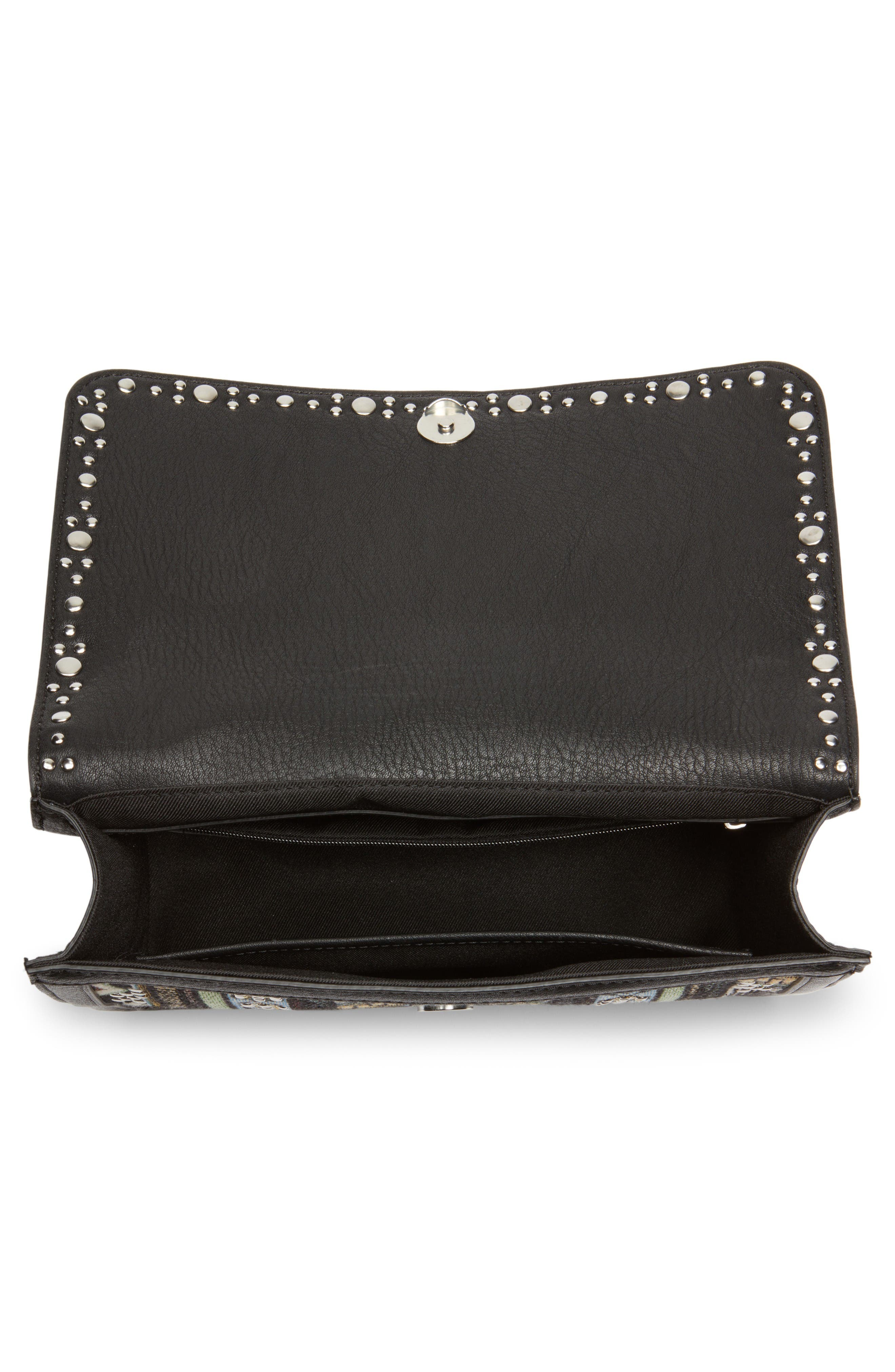 Alternate Image 4  - Chelsea28 Dahlia Embroidered Faux Leather Crossbody Bag