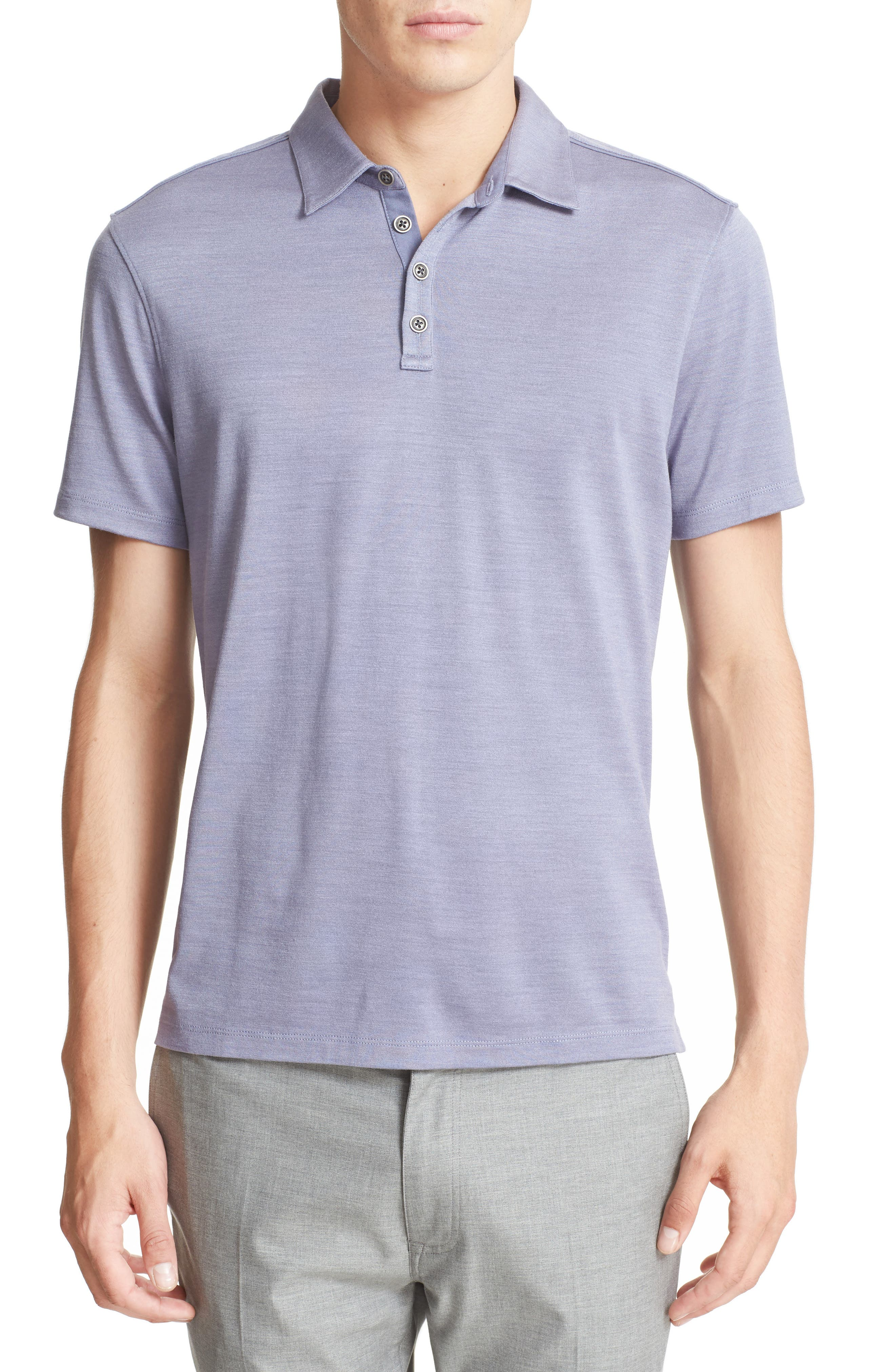 JOHN VARVATOS COLLECTION Hampton Silk & Cotton Polo