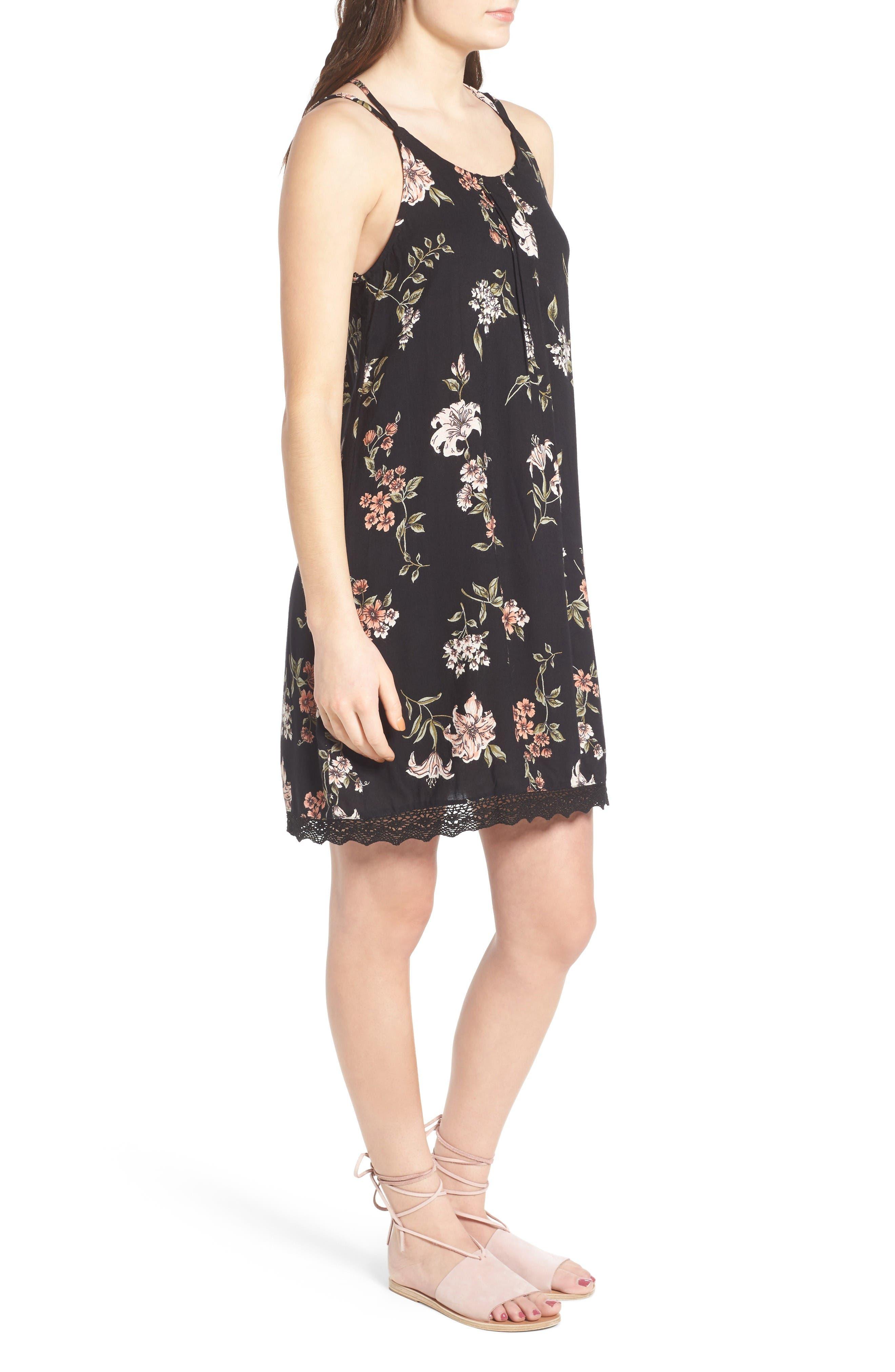Alternate Image 3  - Angie Floral Print Strappy Back Dress