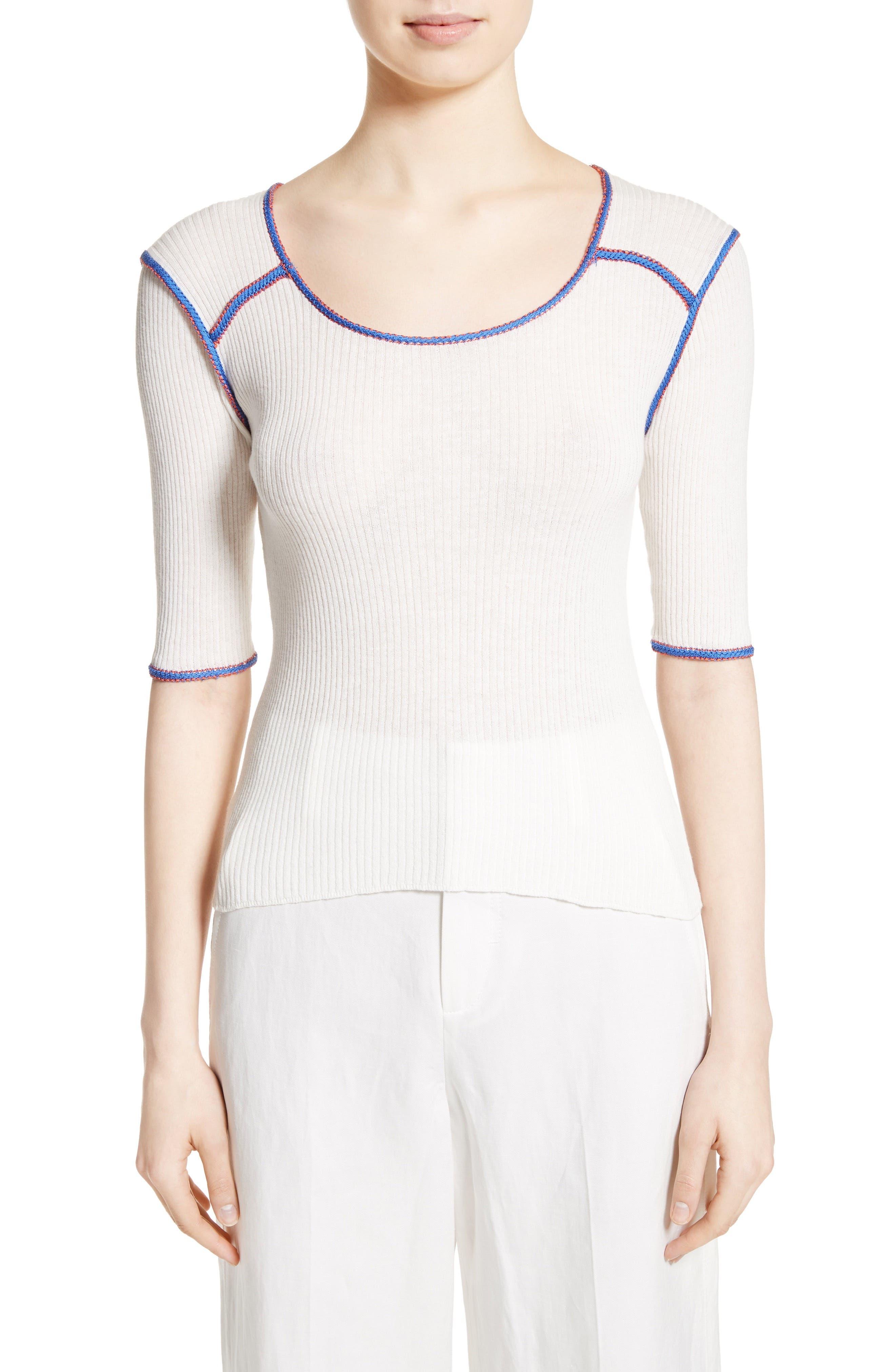 APIECE APART Sania Knit Cotton Top