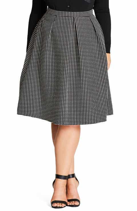 City Chic '60s Mod Skirt (Plus Size)