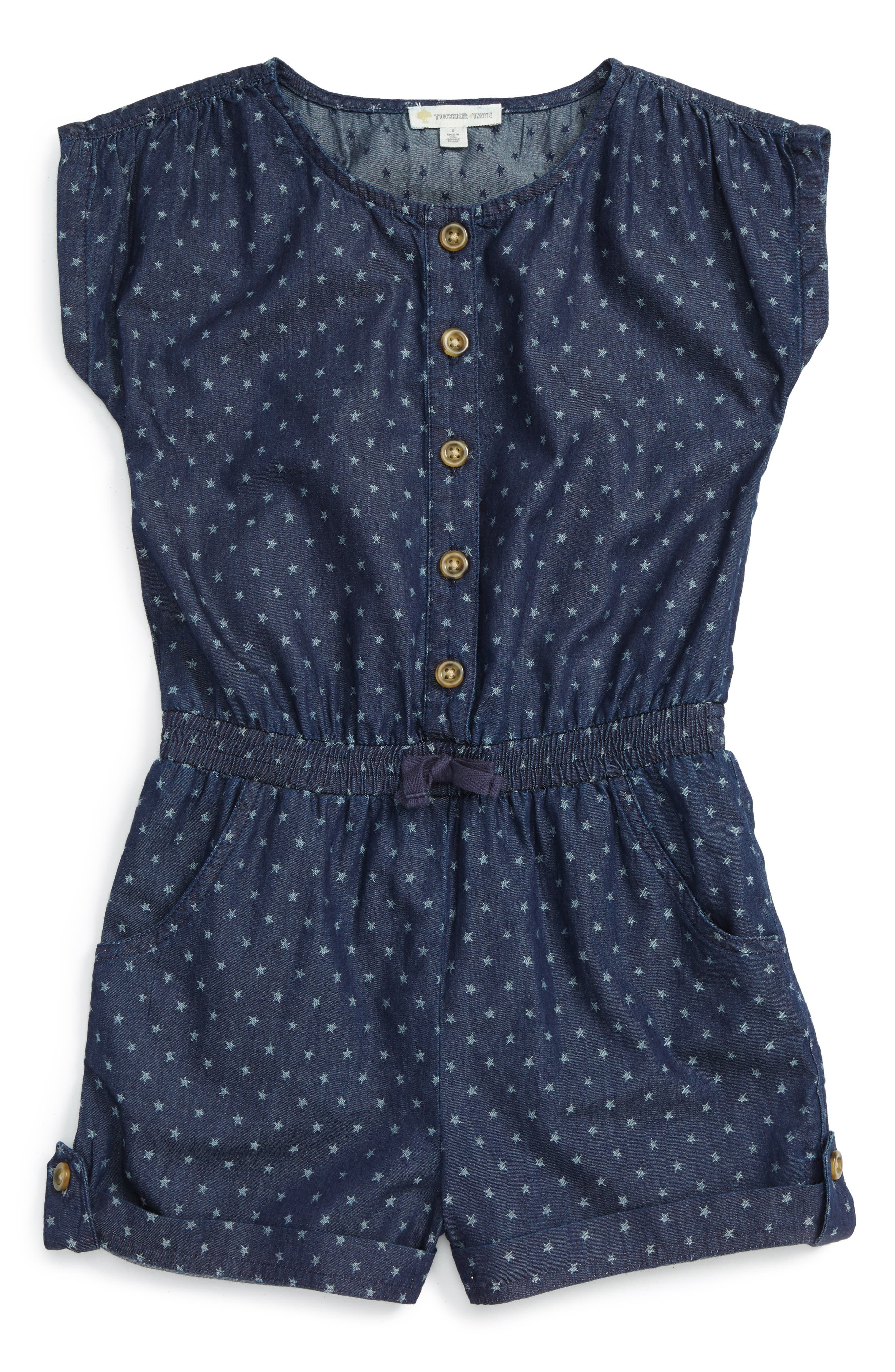 TUCKER + TATE Star Denim Romper