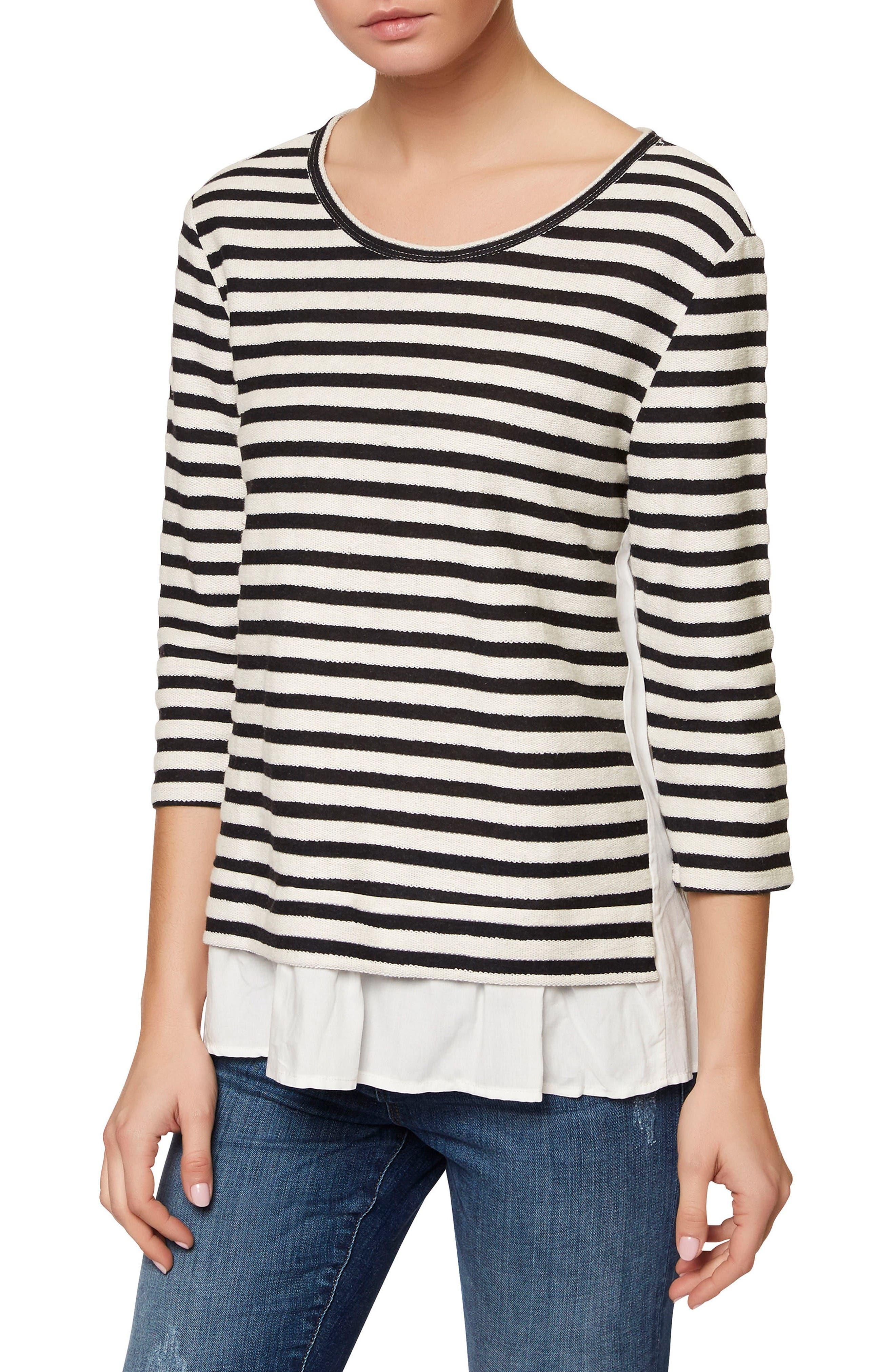 SANCTUARY Teagan Stripe Pullover