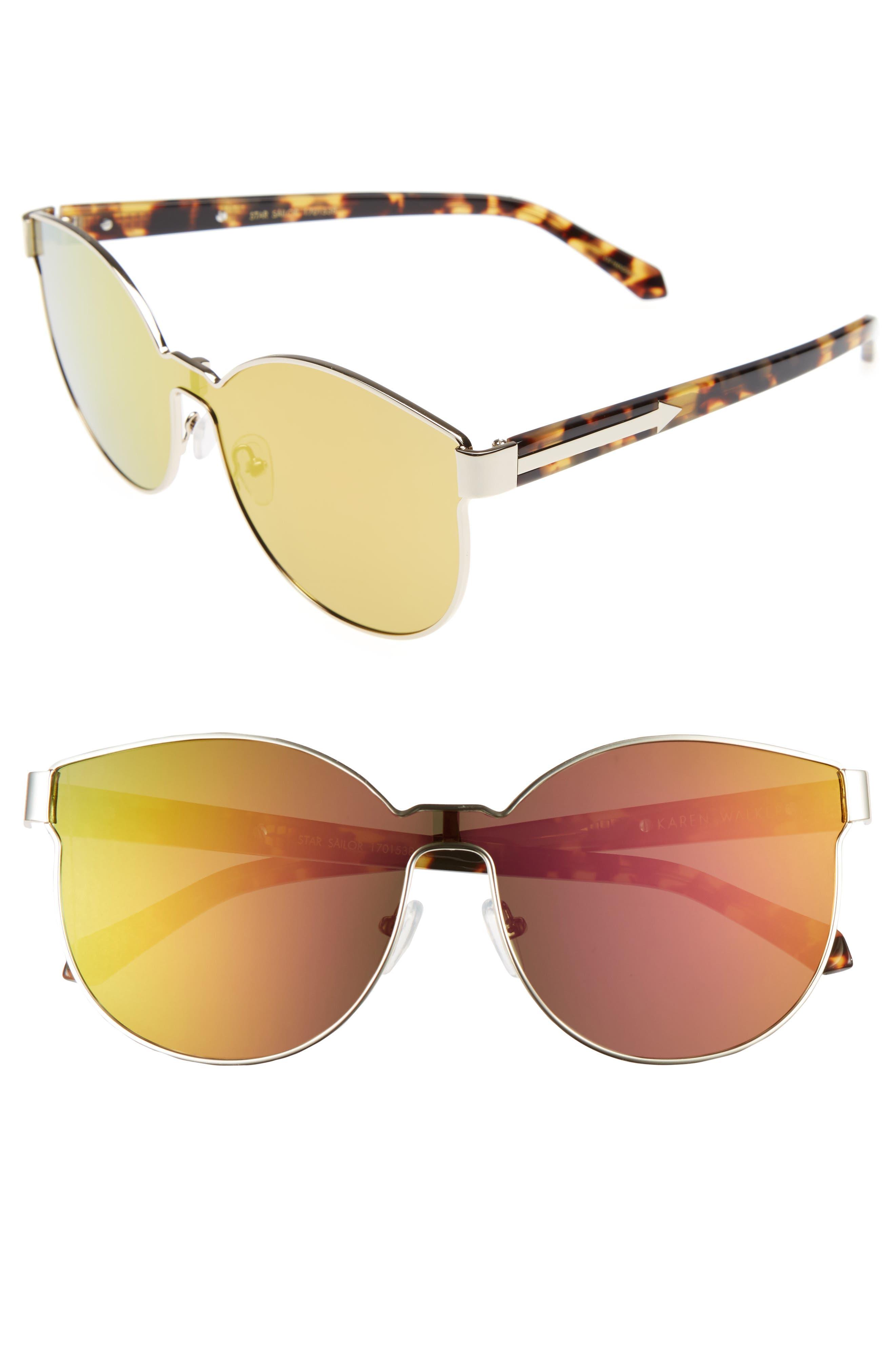 KAREN WALKER Star Sailor 61mm Retro Sunglasses