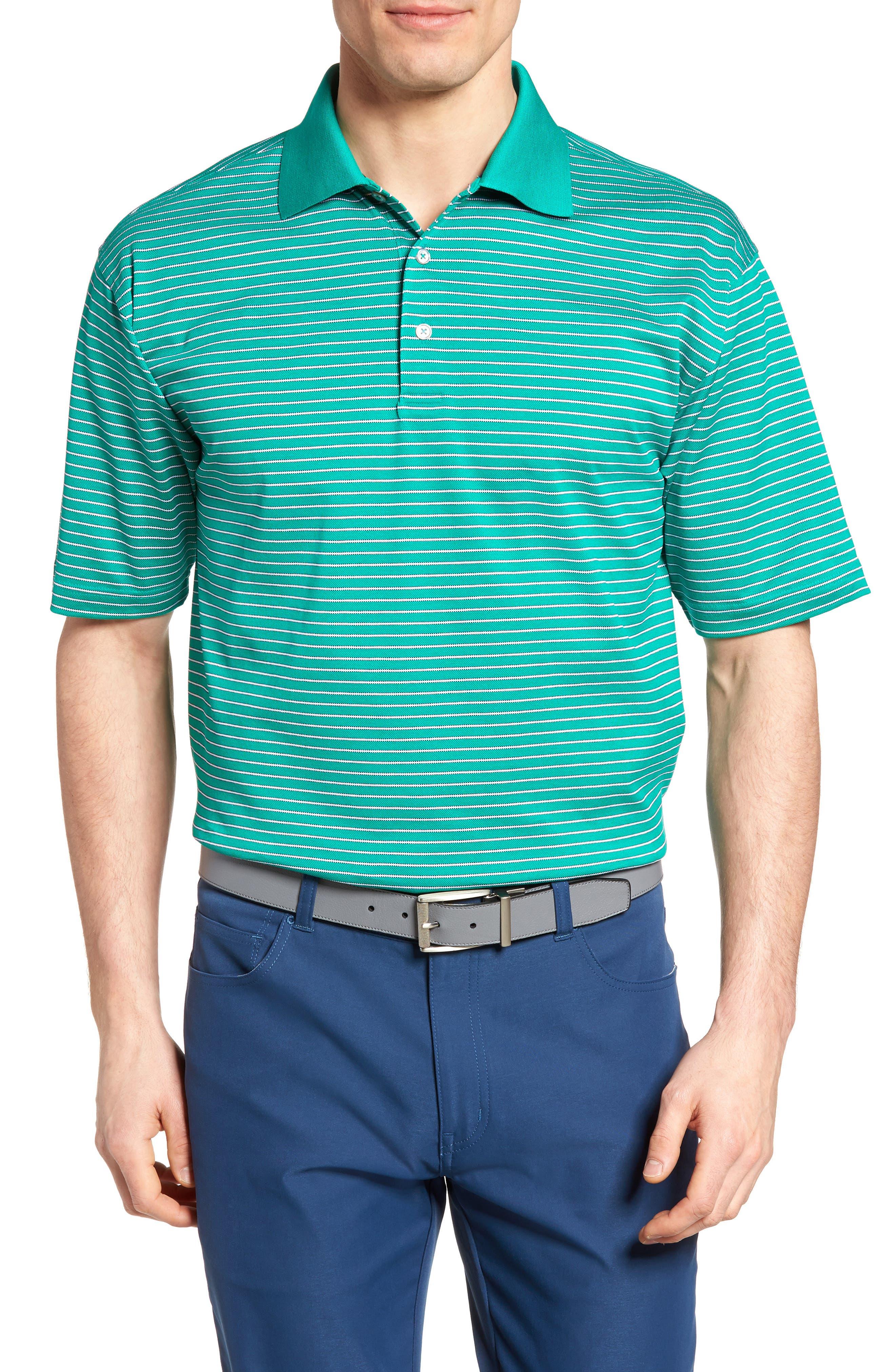 Bobby Jones Dot Stripe Golf Polo