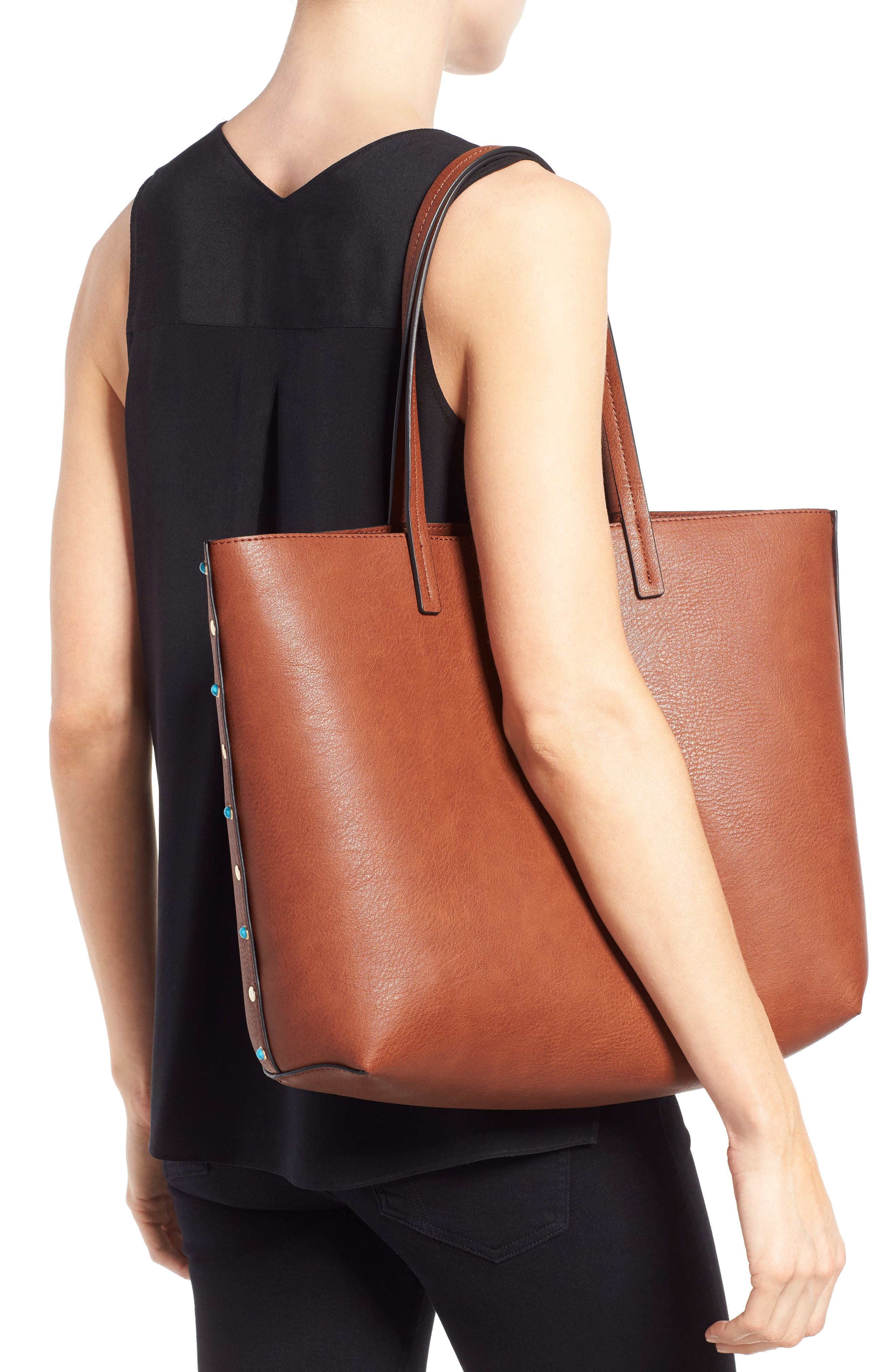 Alternate Image 2  - Chelsea28 Olivia Faux Leather Tote