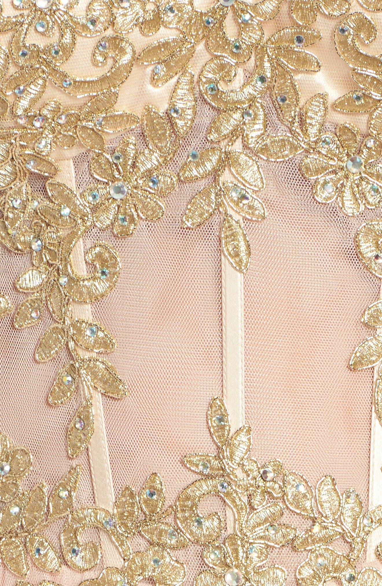 Alternate Image 6  - Blondie Nites Strapless Bustier Dress