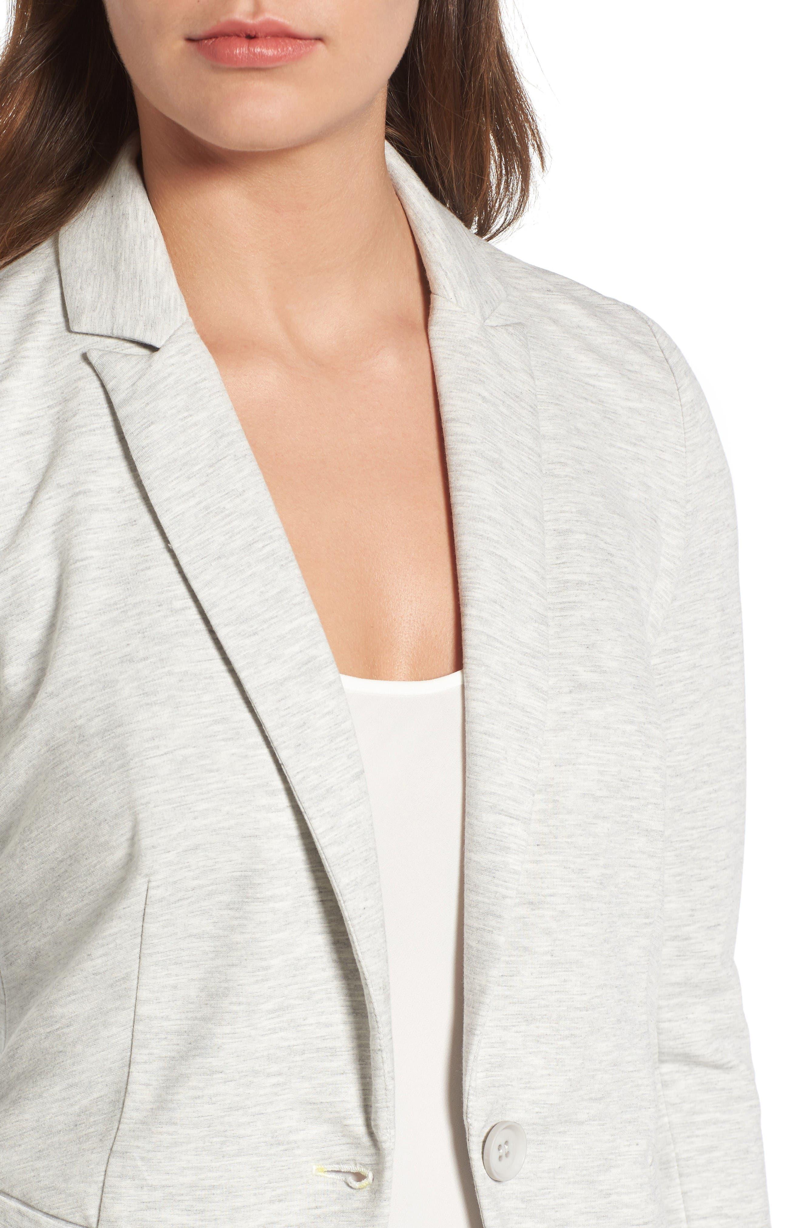 Alternate Image 4  - Olivia Moon Knit Blazer (Regular & Petite)
