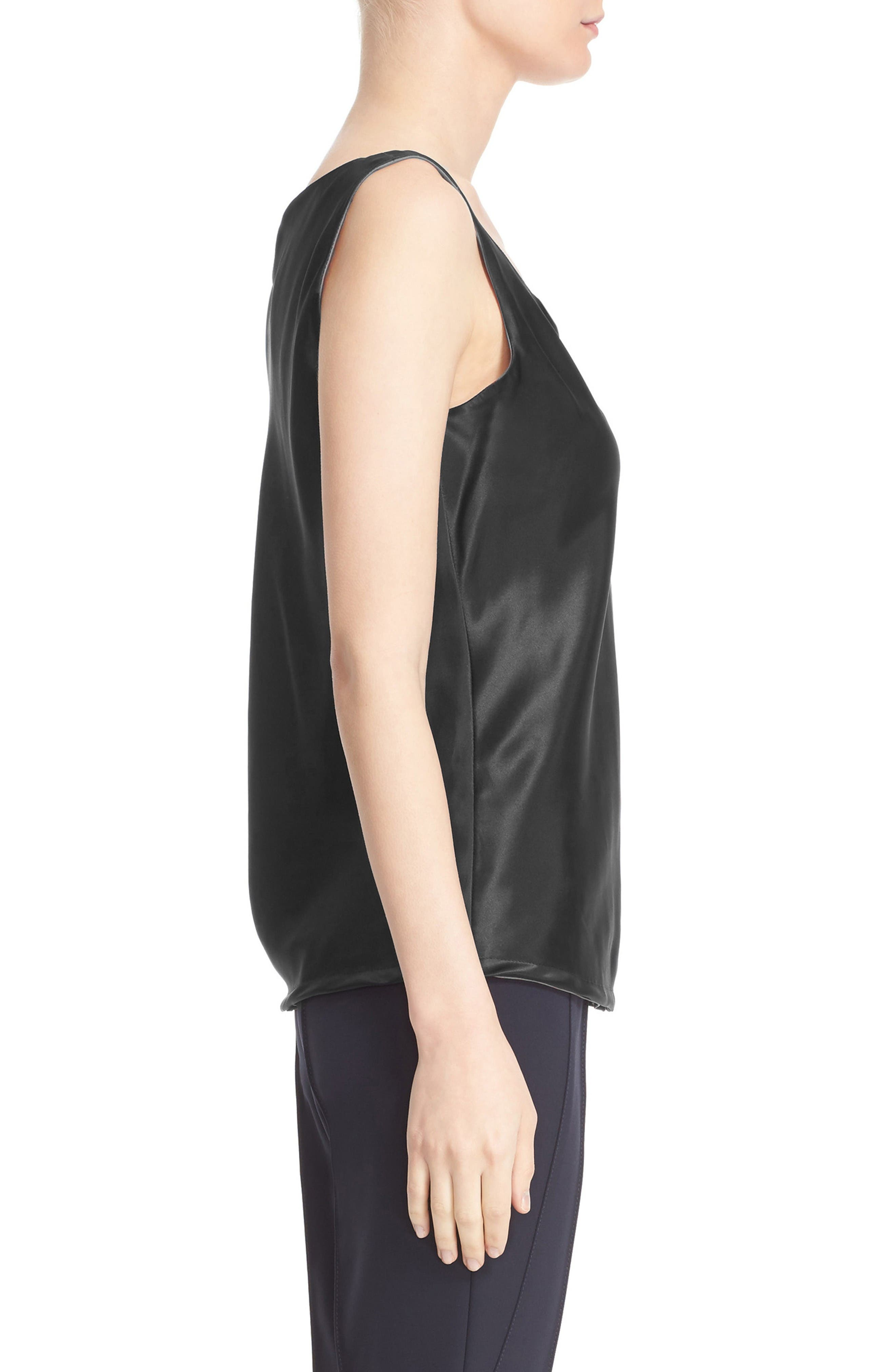 Alternate Image 5  - Lafayette 148 New York Reversible Refined Silk Charmeuse Tank (Regular & Petite)