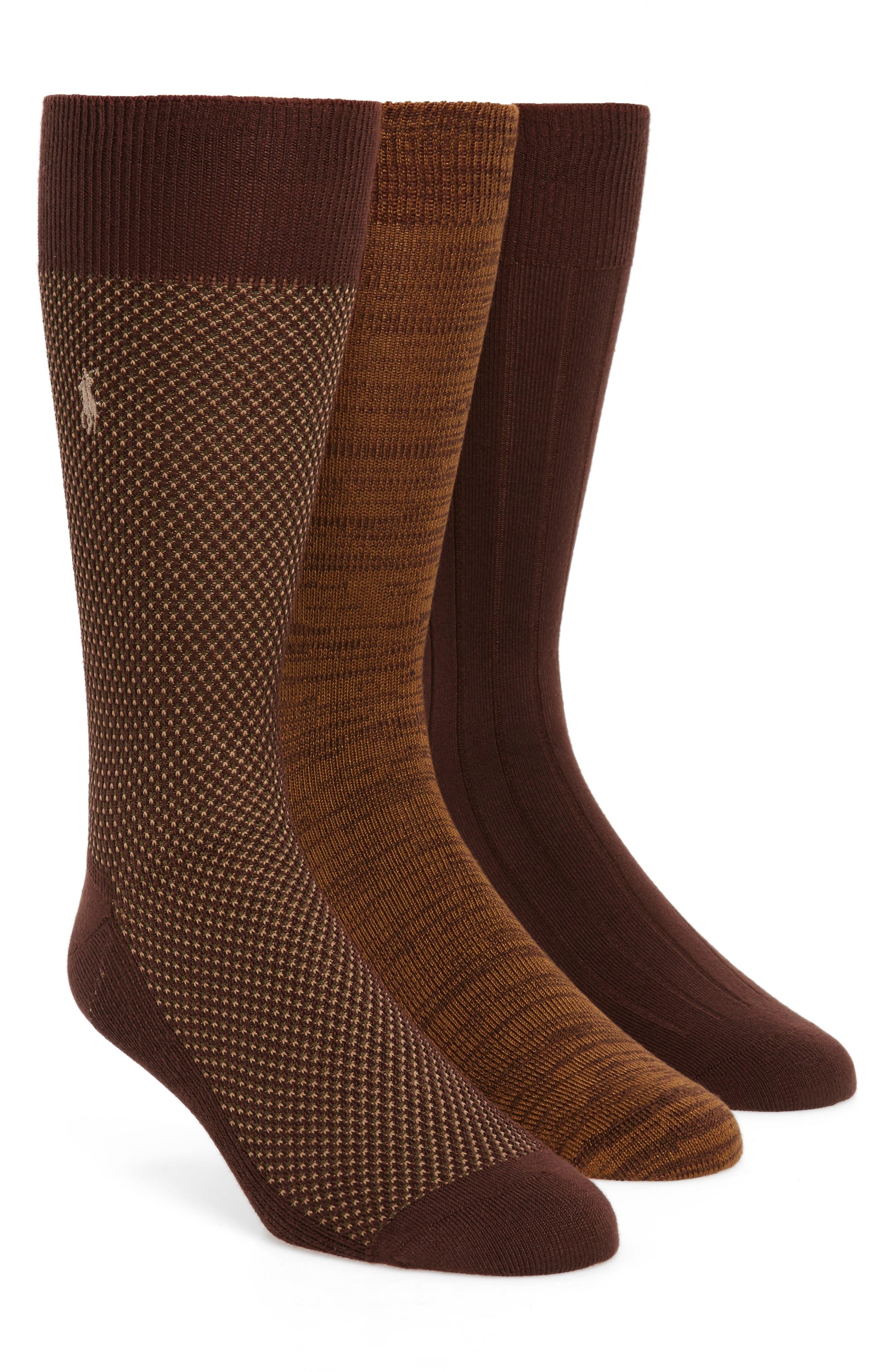 Polo Ralph Lauren Supersoft Bird's Eye Assorted 3-Pack Socks