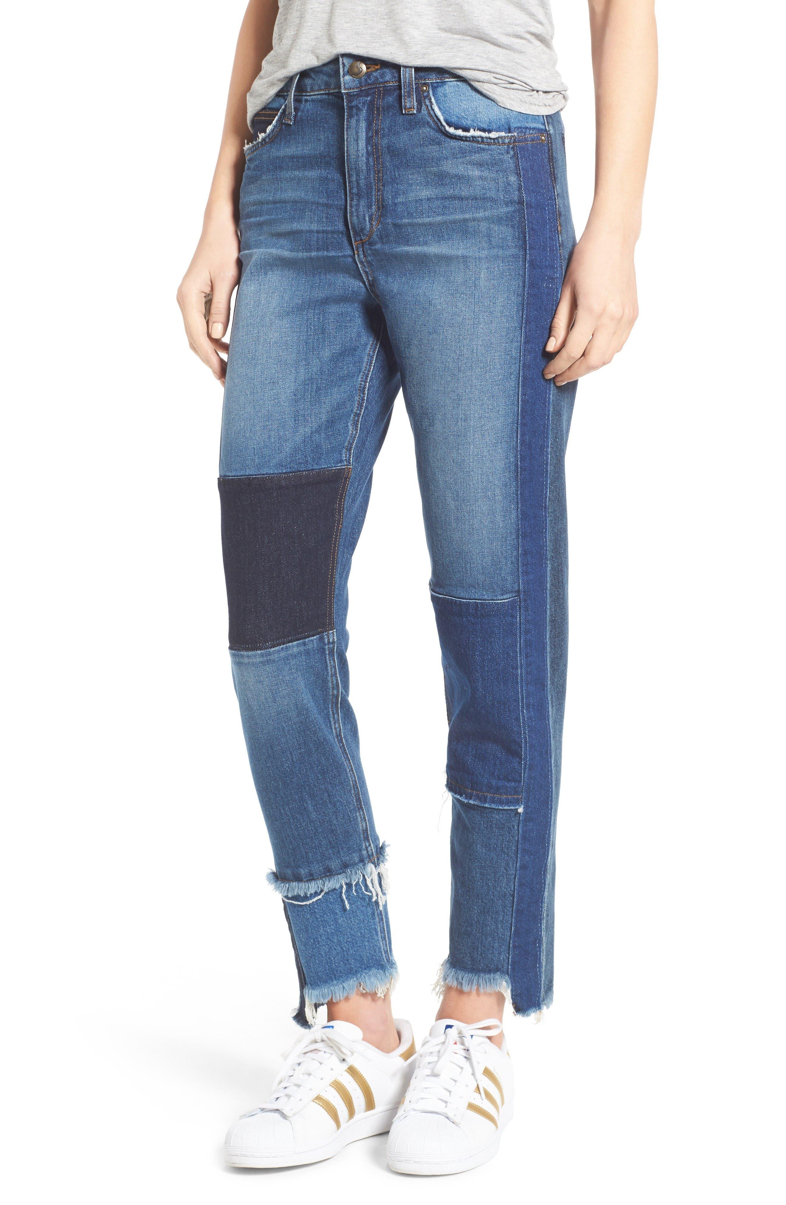 Joe's Debbie Patchwork Ankle Straight Leg Jeans (Kars)