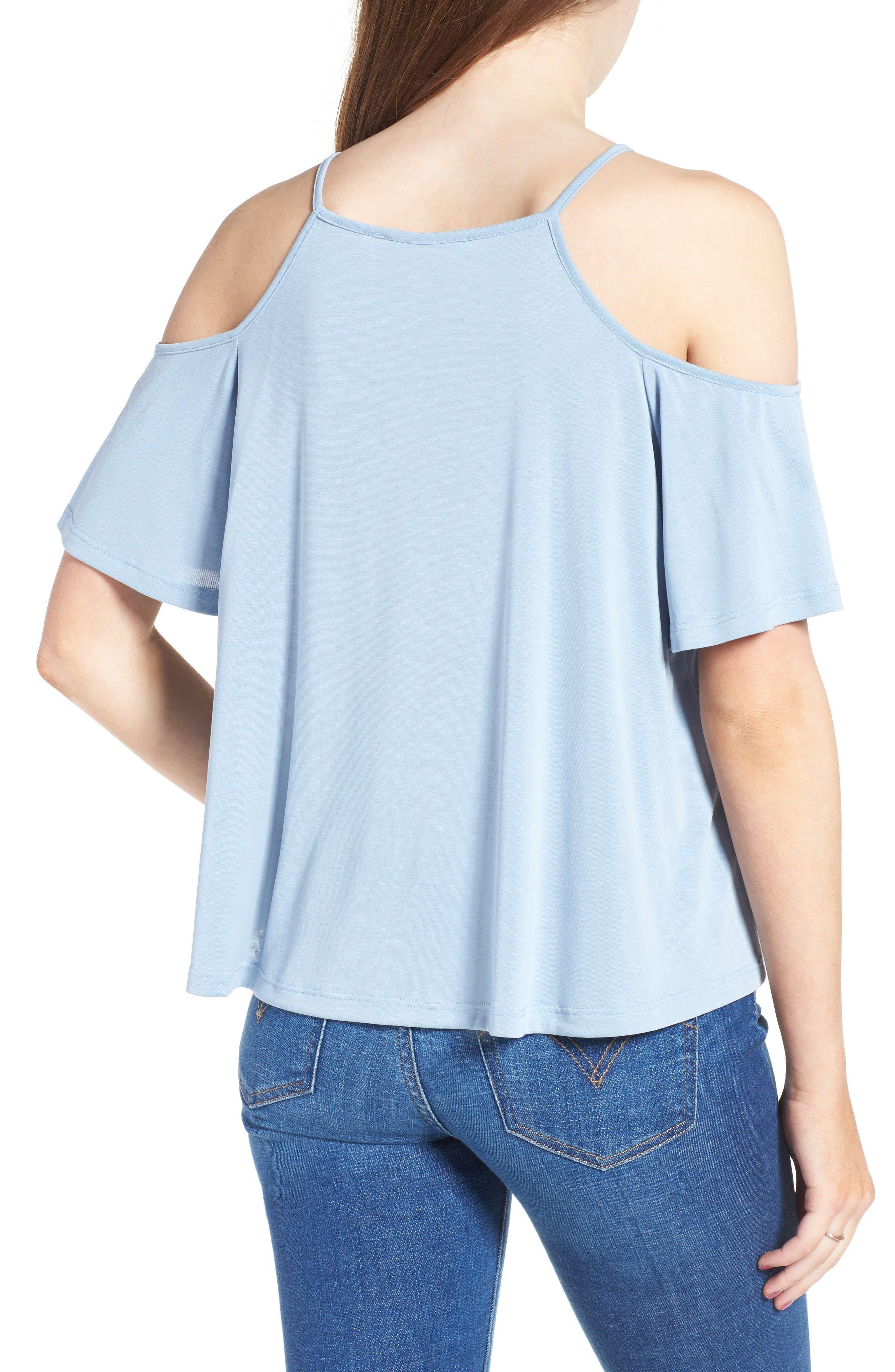 Alternate Image 2  - Lush Cold Shoulder Top