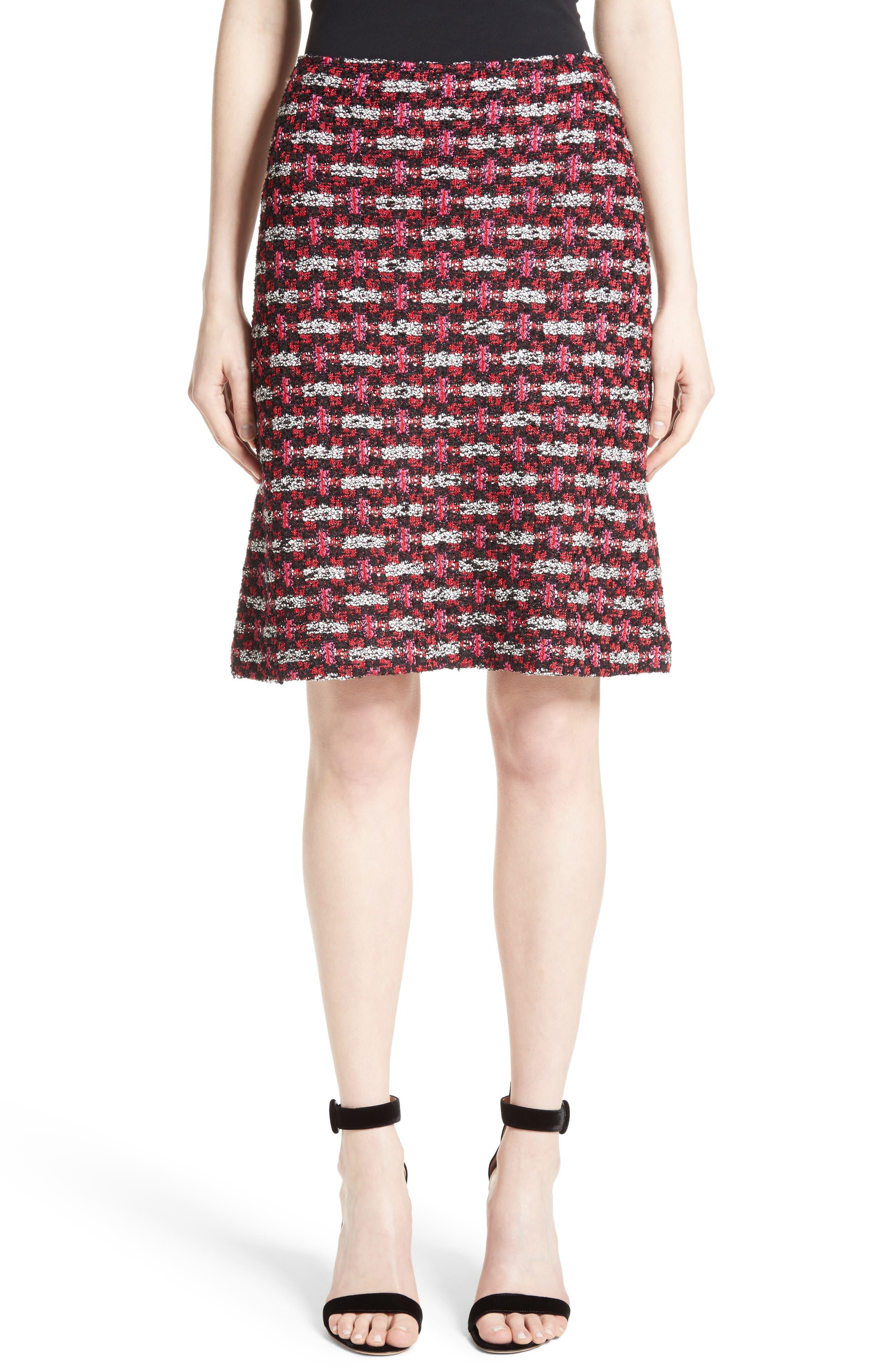 St. John Collection Hiran Tweed Knit Skirt