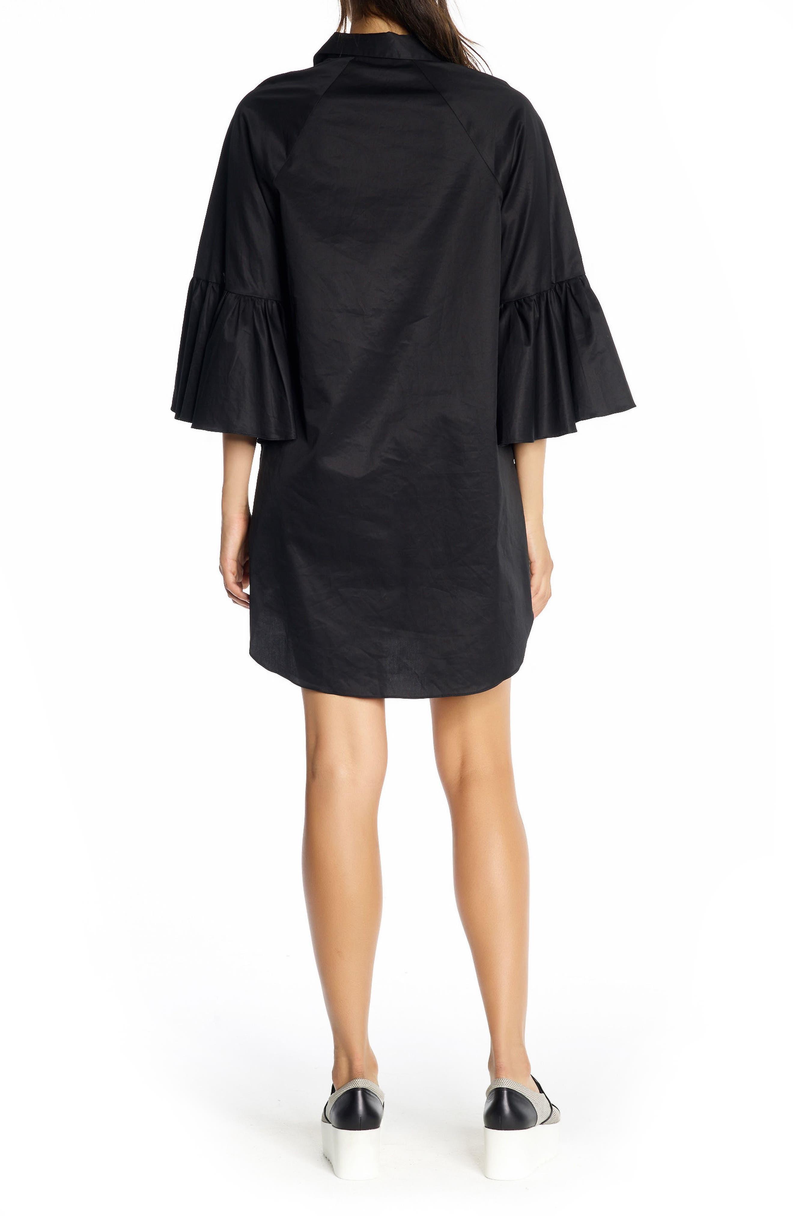 Alternate Image 2  - KENDALL + KYLIE Bell Sleeve Cotton Shirtdress