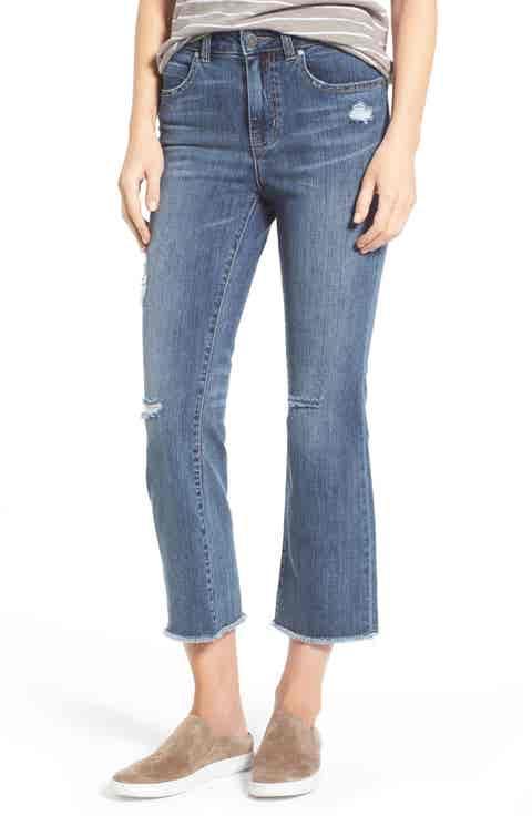 Caslon® Crop Flare Leg Jeans