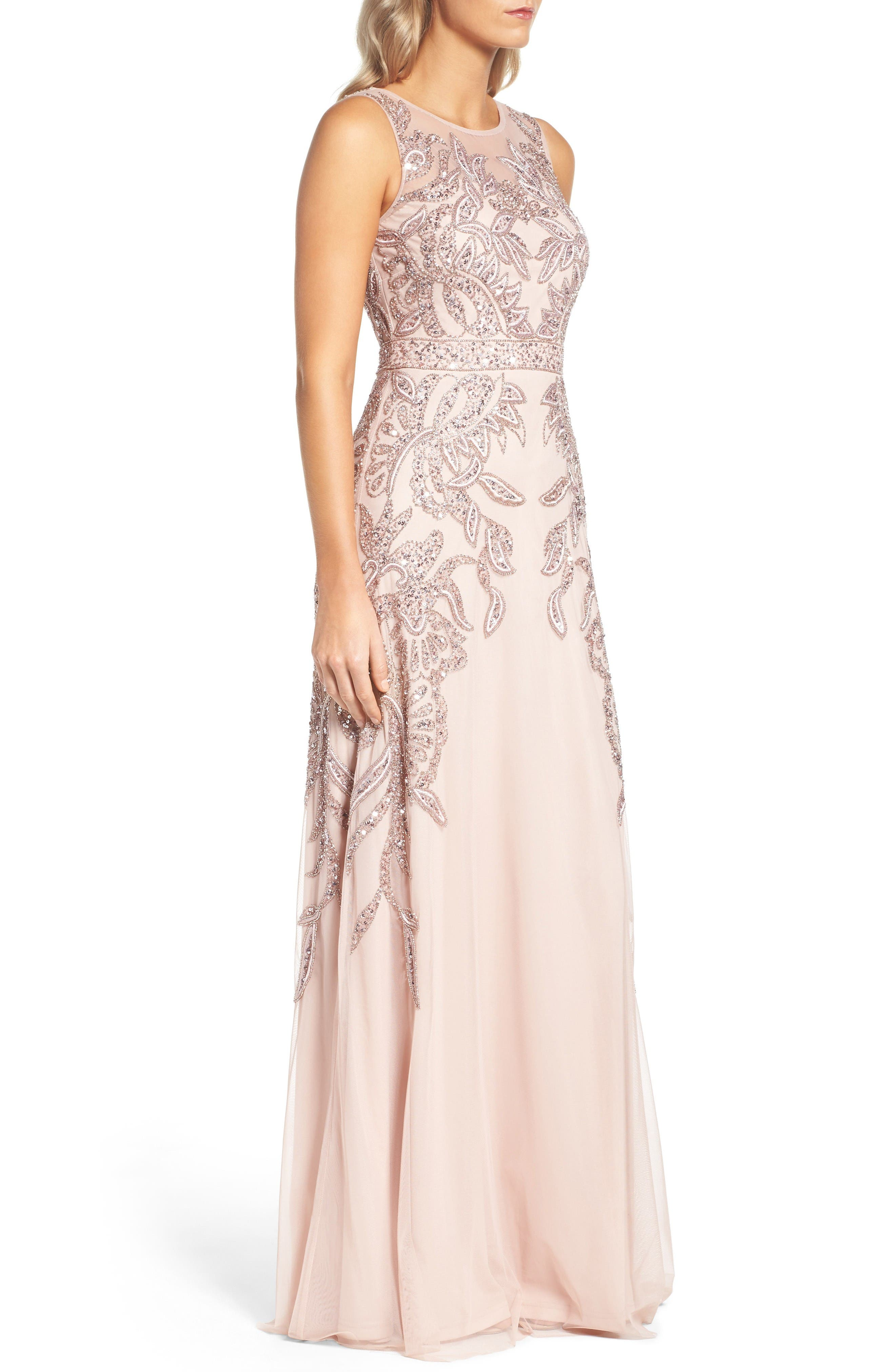 Alternate Image 3  - Adrianna Papell Embellished Gown (Regular & Petite)
