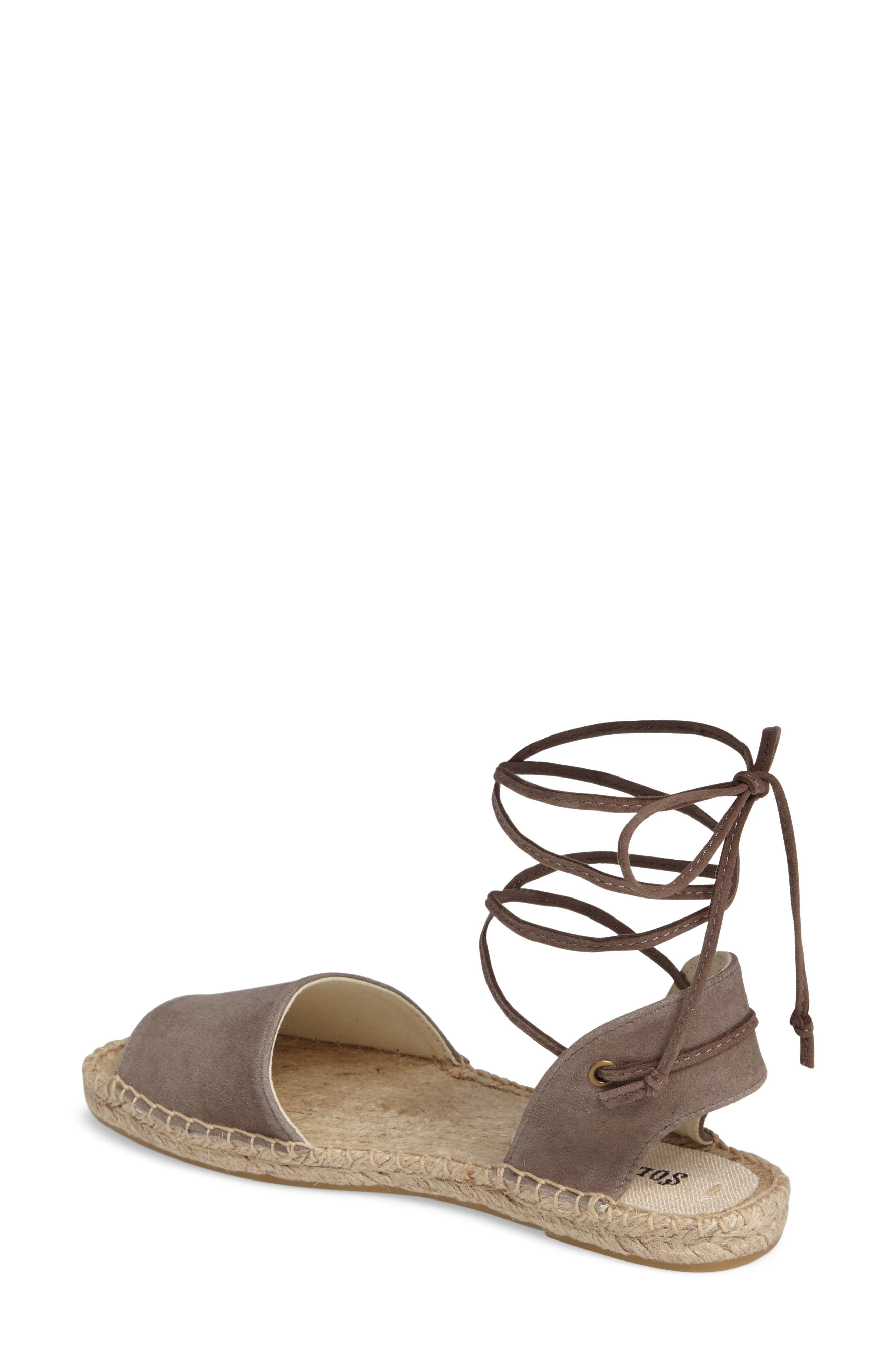 Alternate Image 2  - Soludos Lace-Up Sandal (Women)