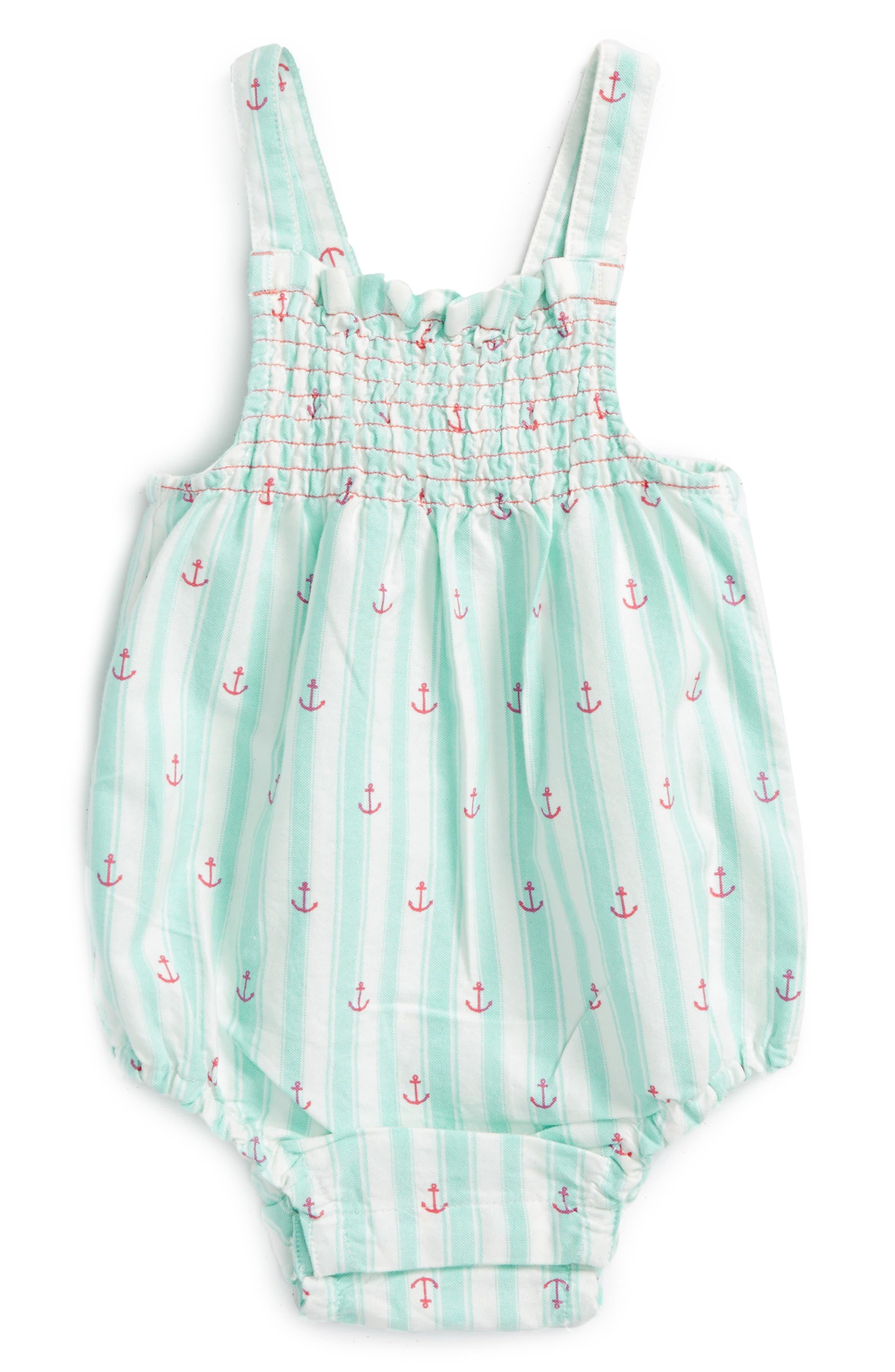 Hatley Anchors Bubble Romper (Baby Girls)