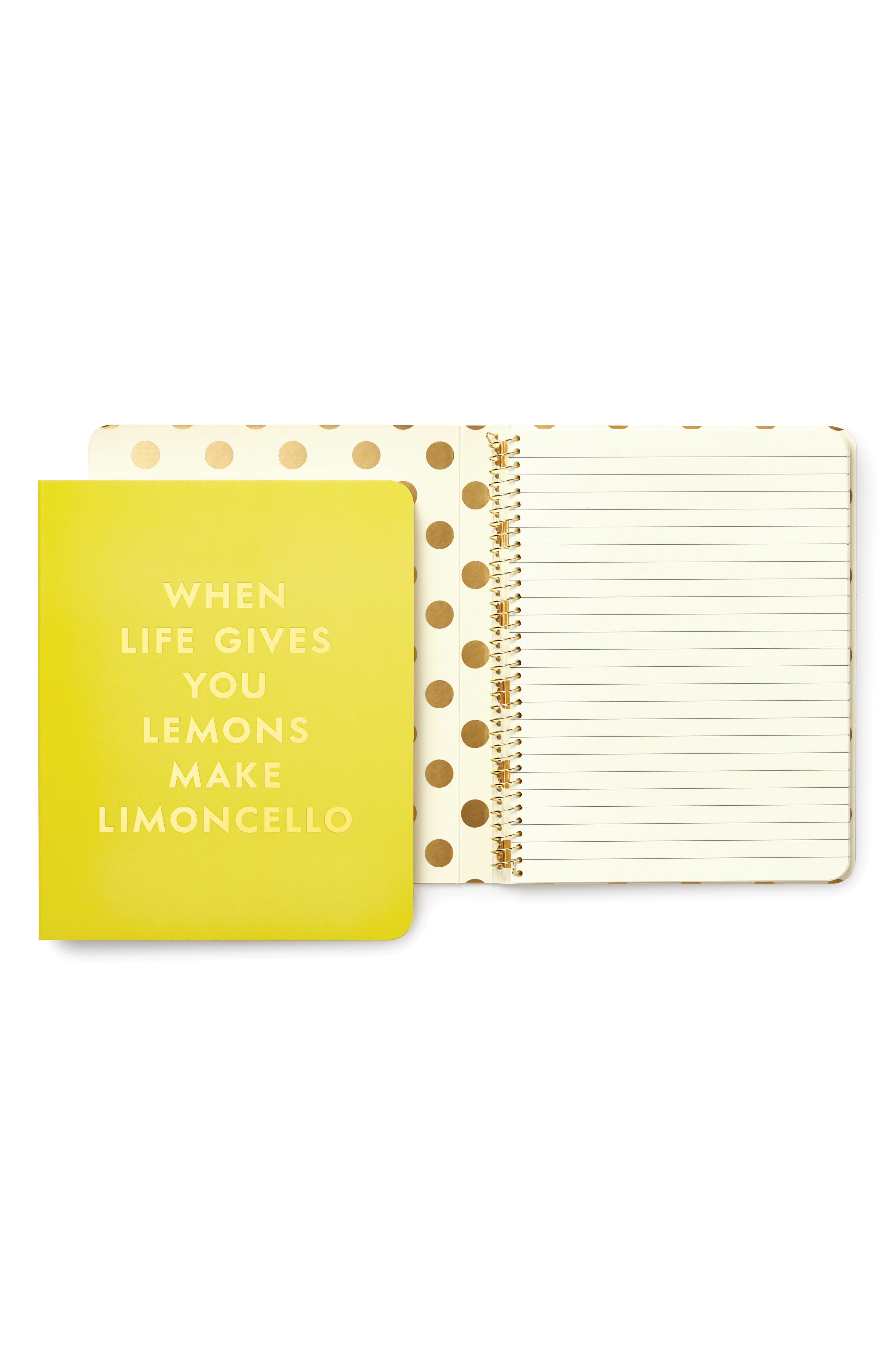 kate spade new york lemon spiral notebook