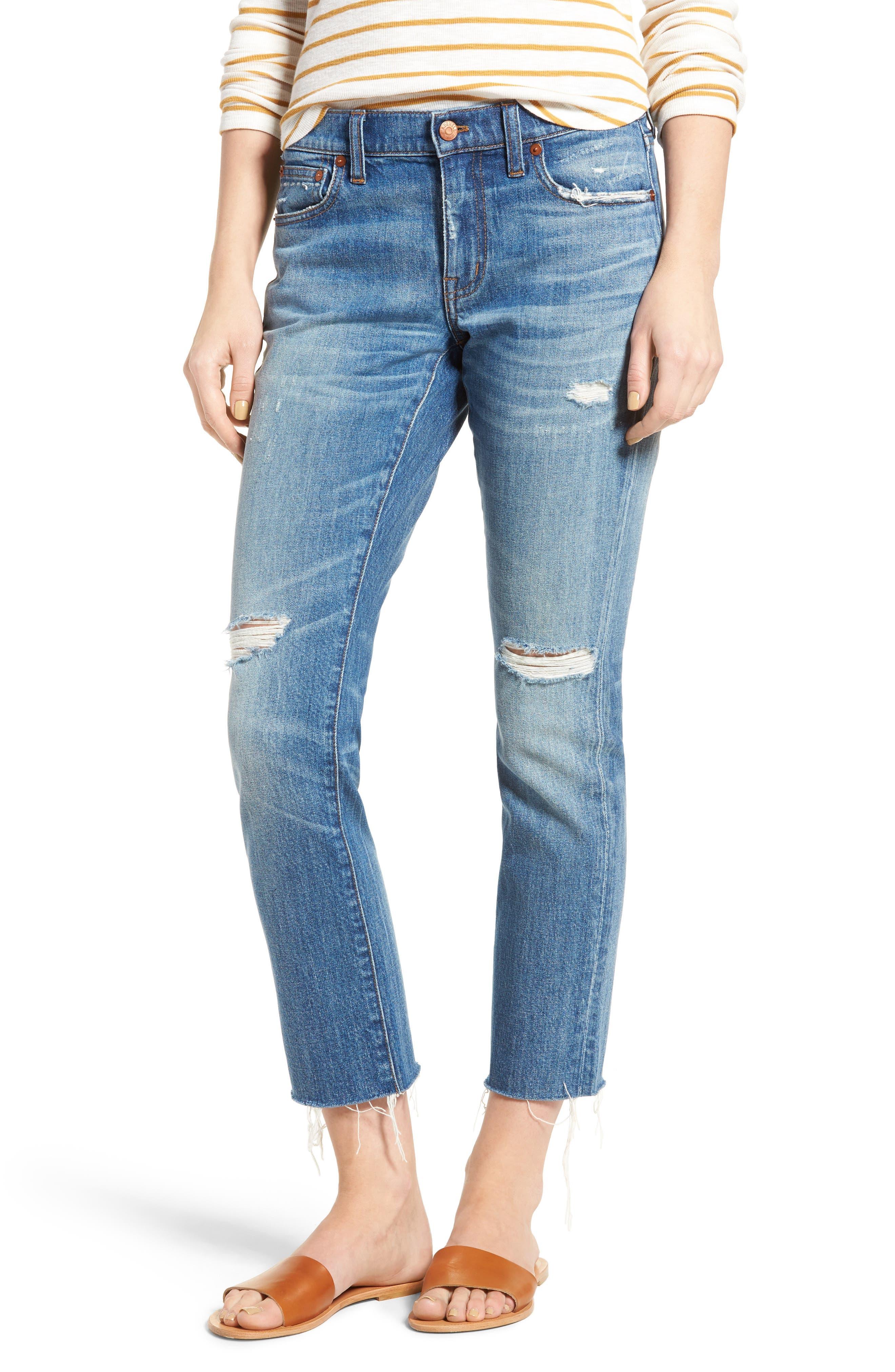 Madewell The Slim Boyjean Boyfriend Jeans (Bennie Wash)