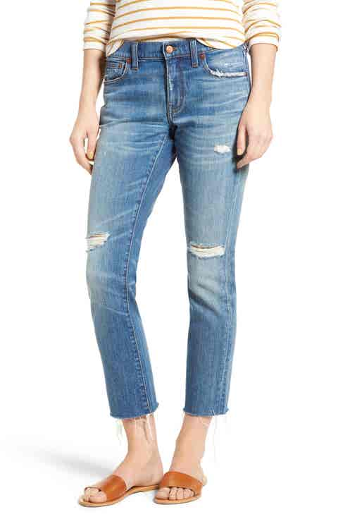 Madewell The Slim Boyjean Boyfriend Jeans (Bennie Wash)