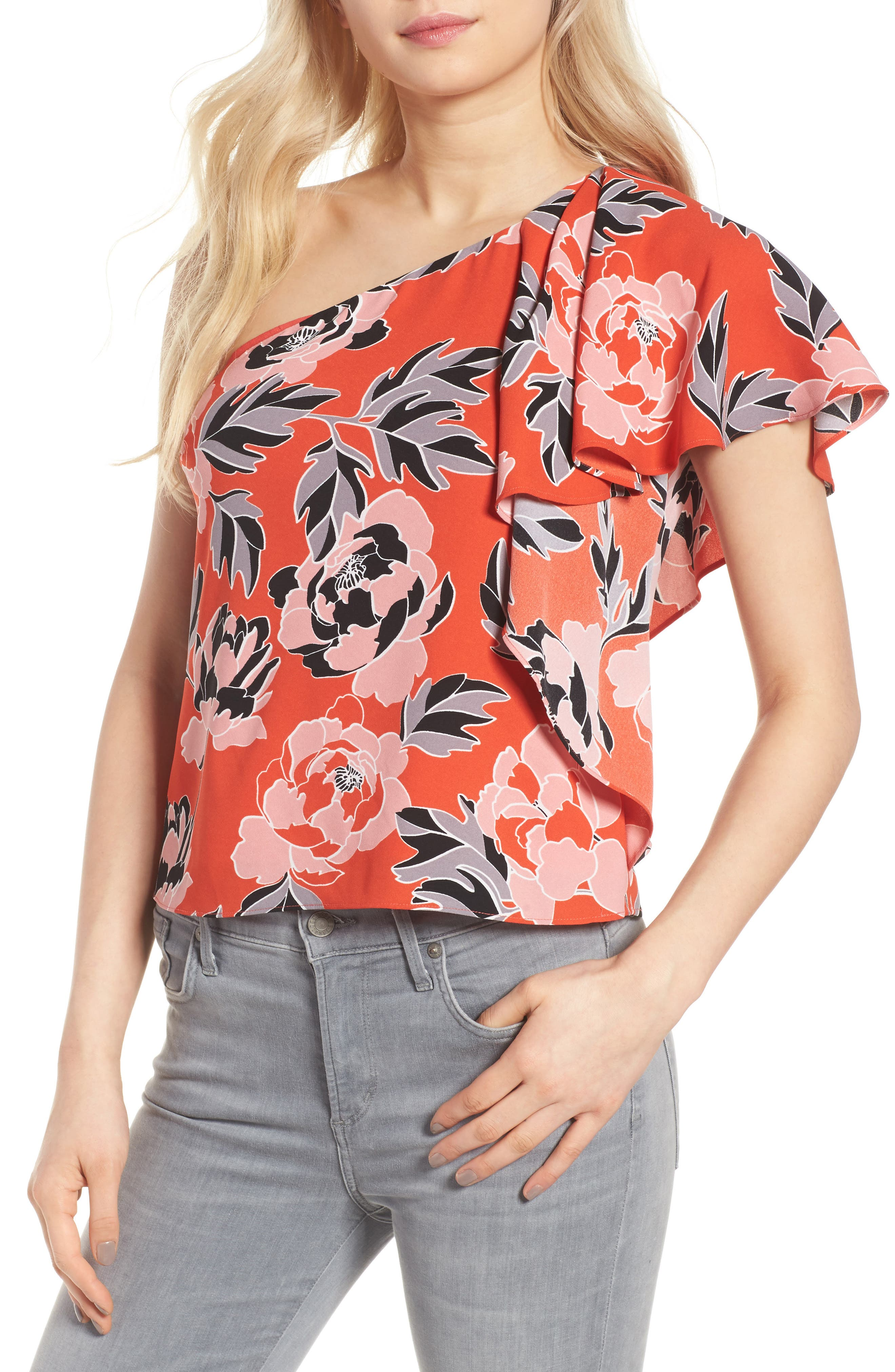 cooper & ella Livia One-Shoulder Top