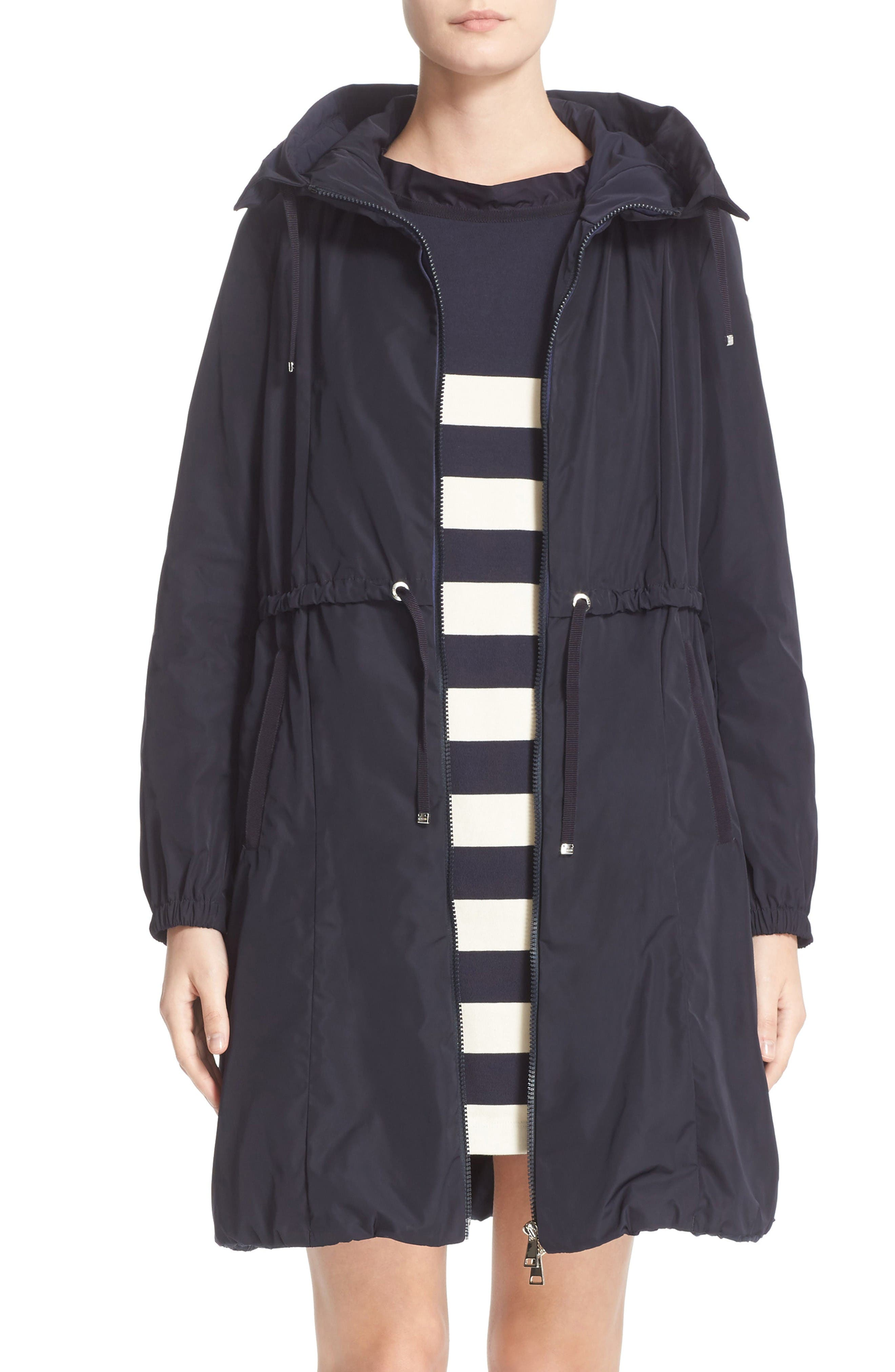 MONCLER Tuile Water Resistant Long Raincoat