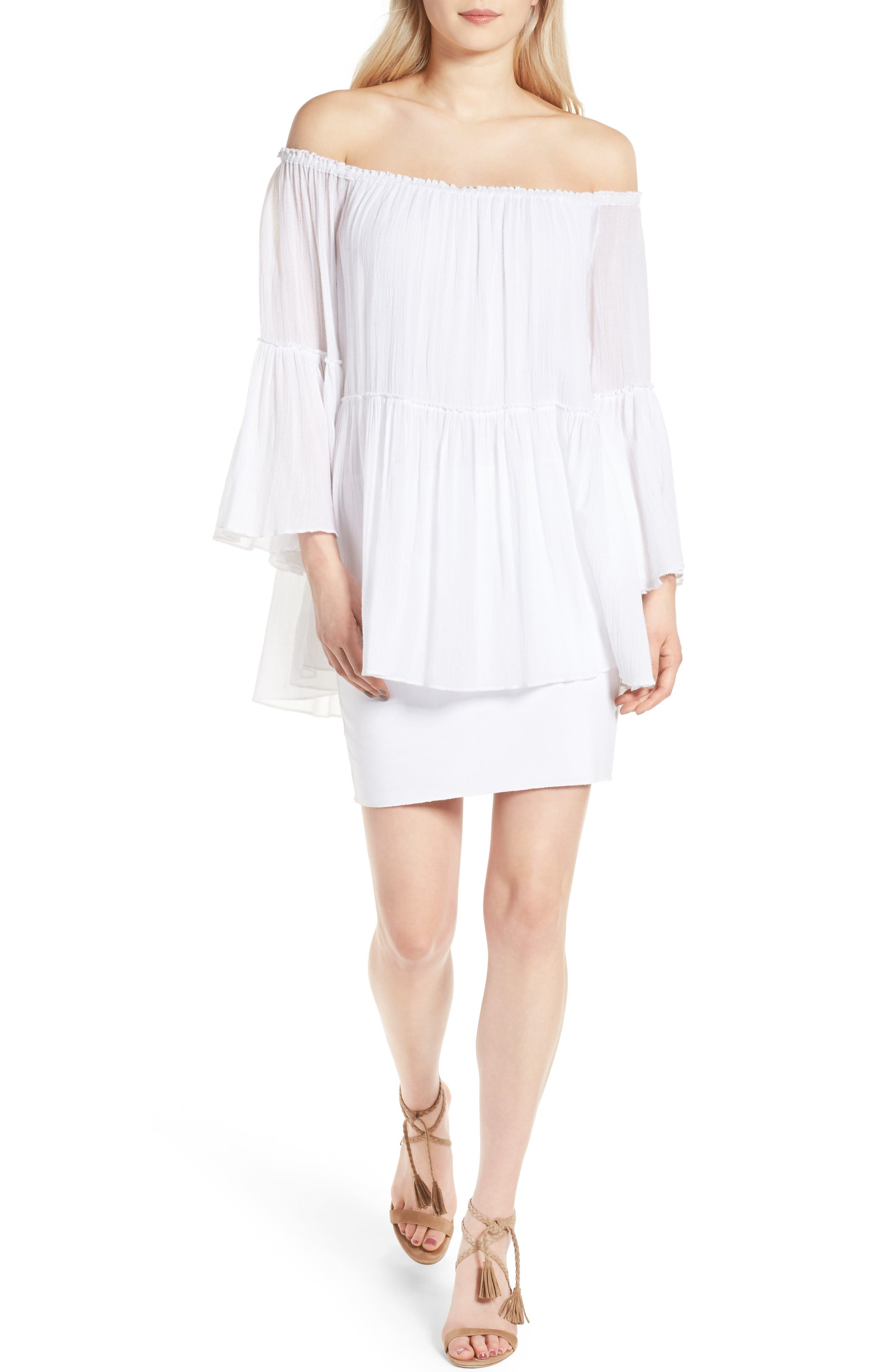 Bailey 44 Waterfall Off the Shoulder Dress