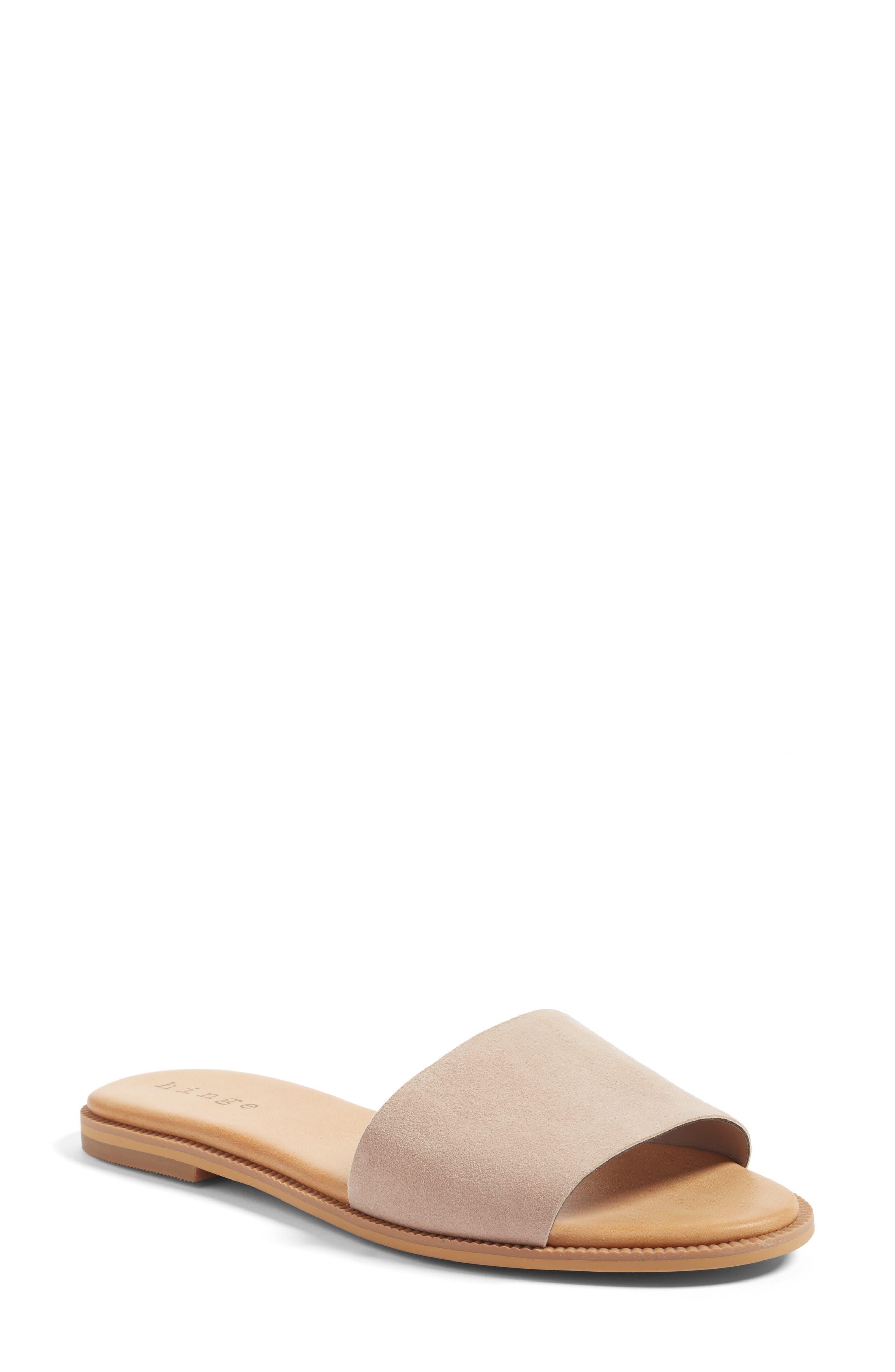 Main Image - Hinge 'Mere' Flat Slide Sandal (Women)