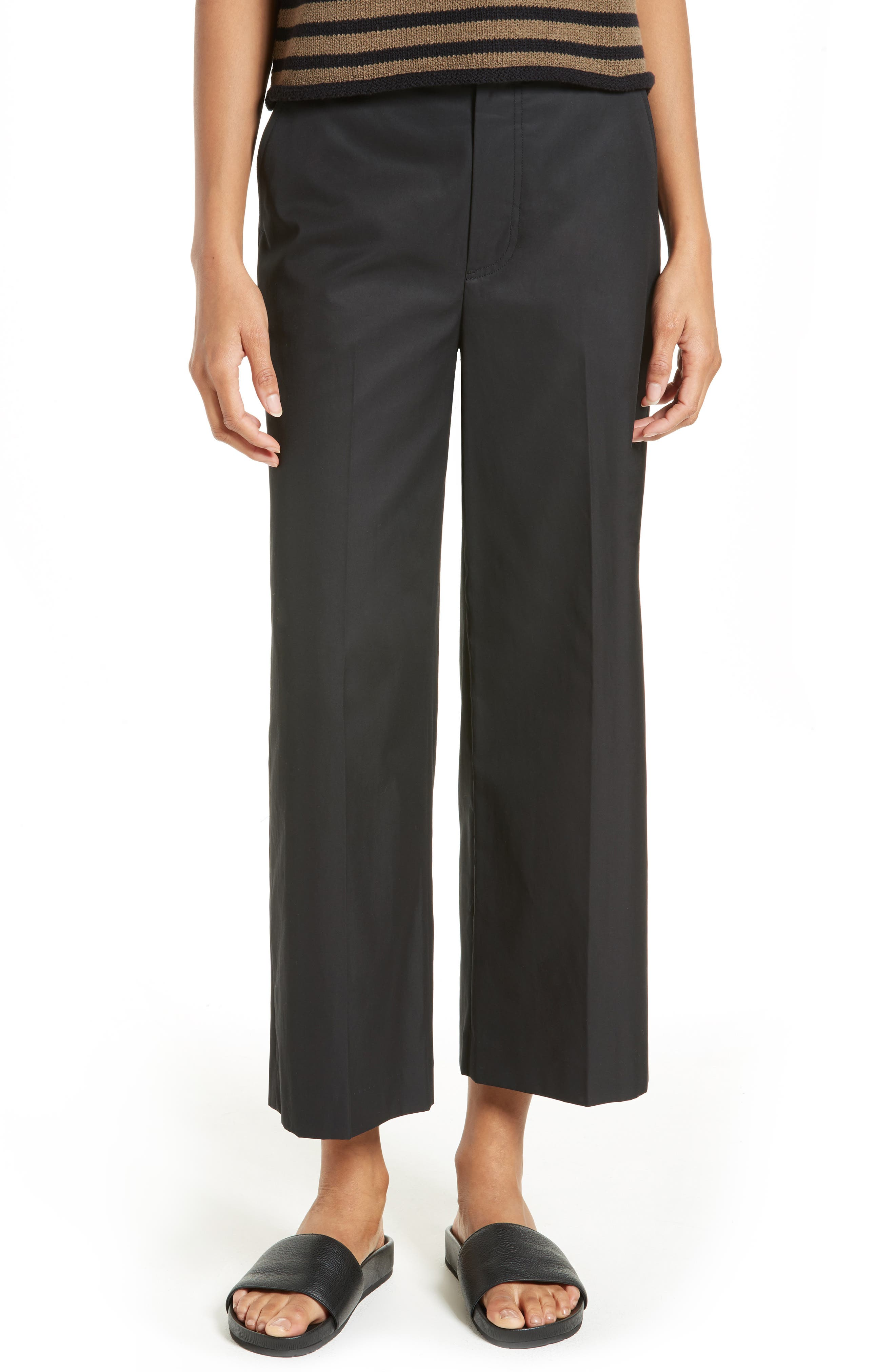 Vince High Waist Crop Trousers