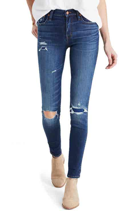 Madewell High Rise Skinny Jeans: Ripped   Patched Edition (Marion)