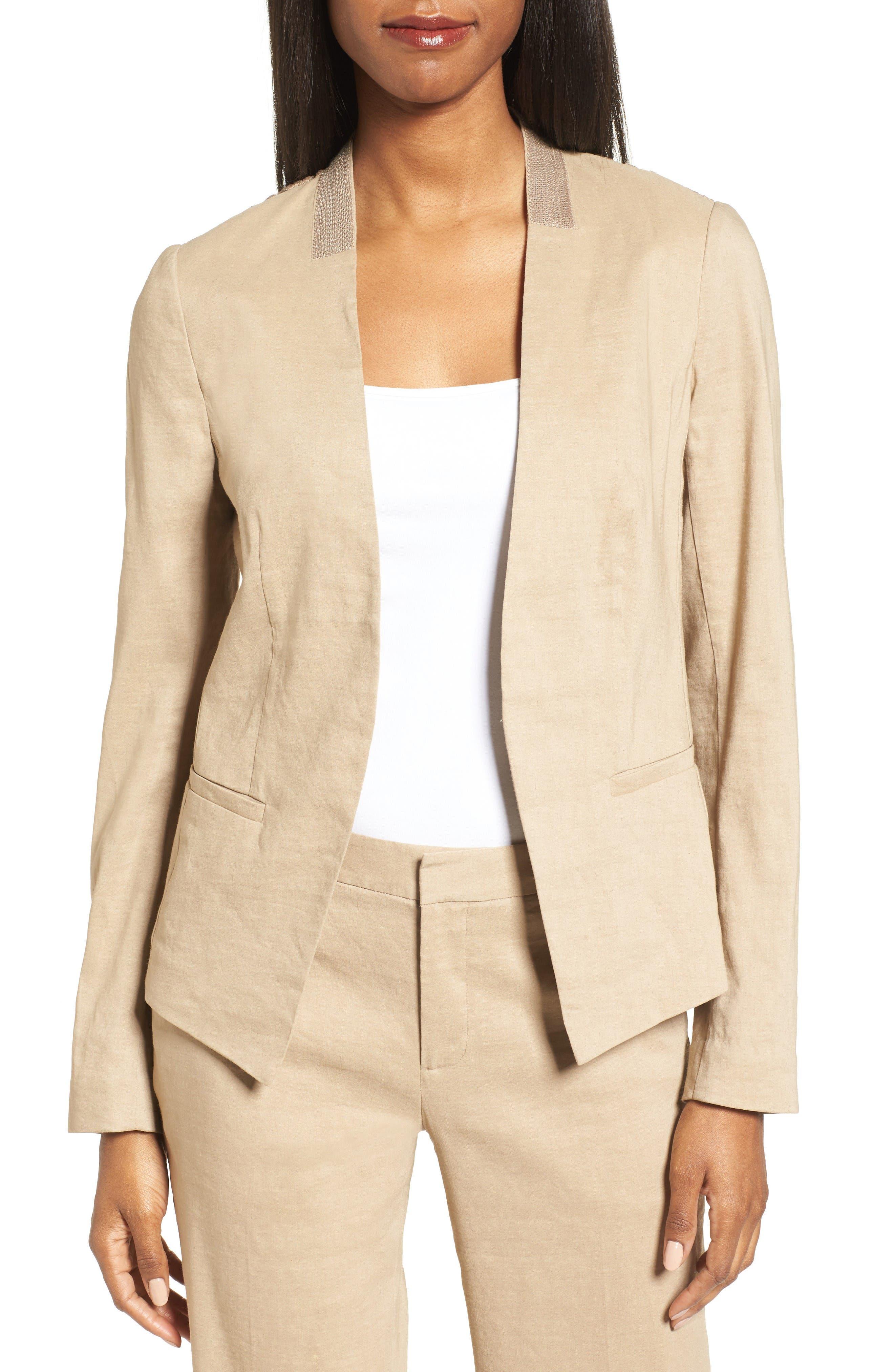 Alternate Image 1 Selected - Kobi Halperin Claudia Lace Trim Jacket