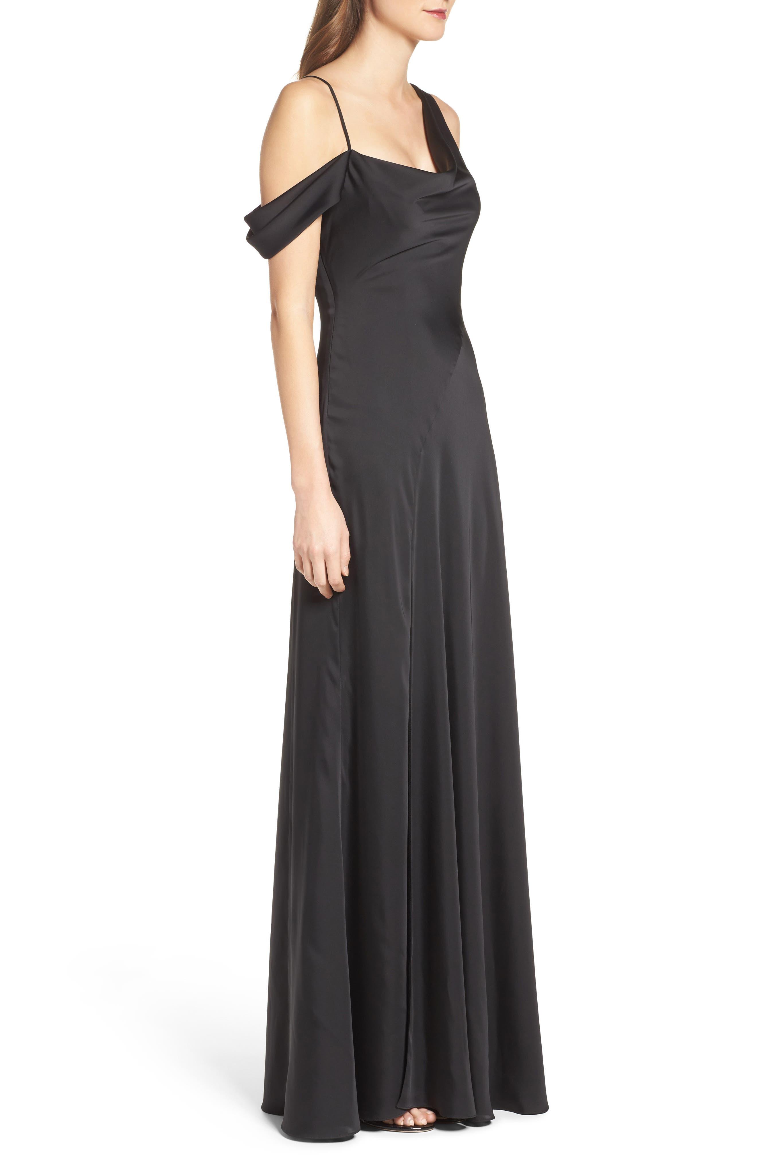 Alternate Image 3  - Jill Jill Stuart One-Shoulder Gown