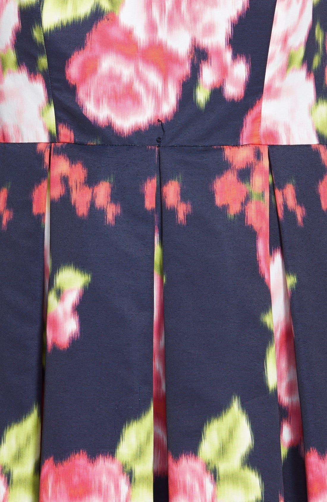 Alternate Image 3  - Eliza J Floral Print Cap Sleeve Fit & Flare Dress (Plus Size)