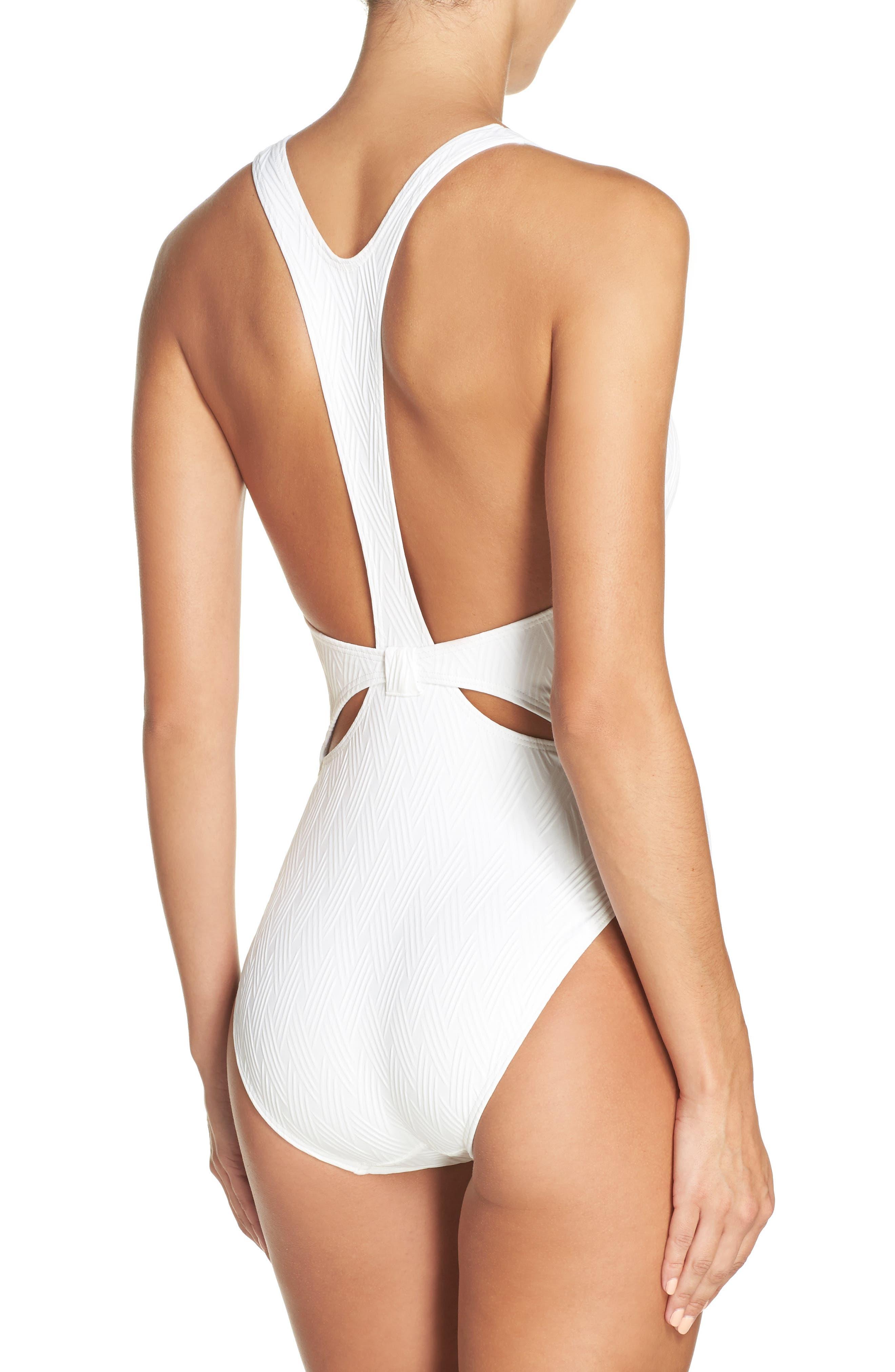 Alternate Image 2  - Vince Camuto Cutout One-Piece Swimsuit