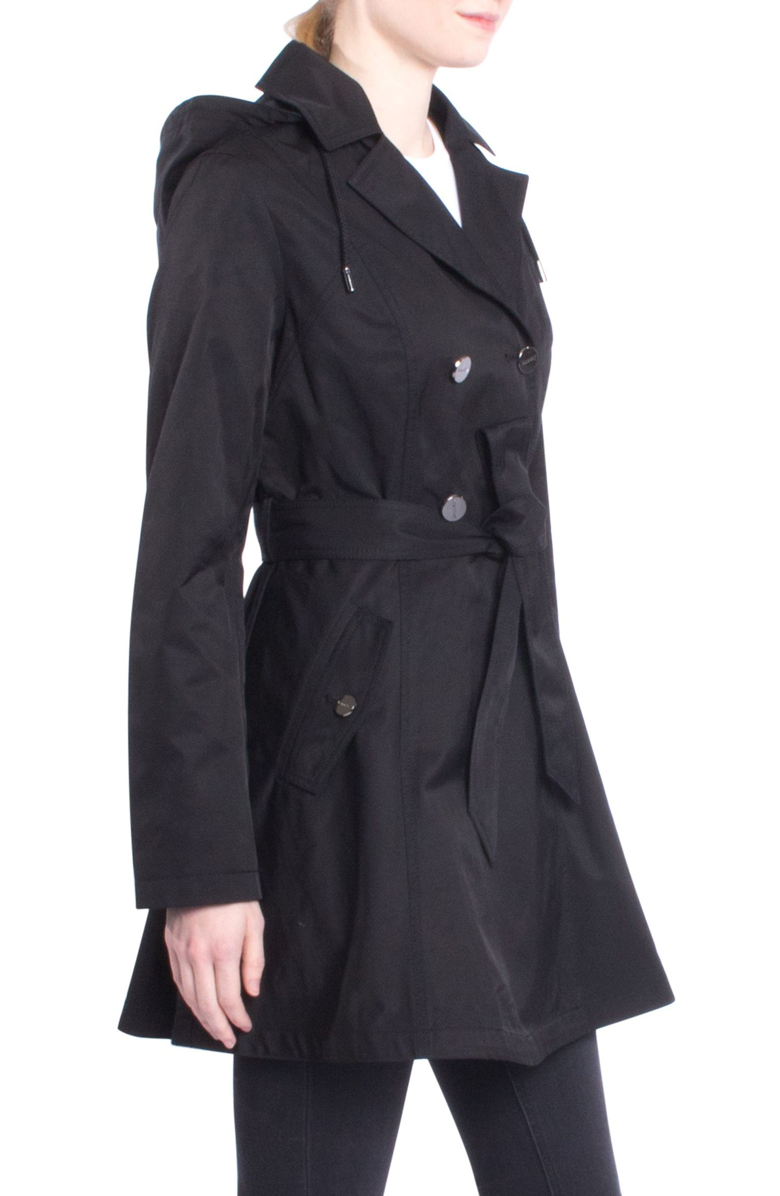Alternate Image 3  - Laundry by Shelli Segal Fit & Flare Trench Coat