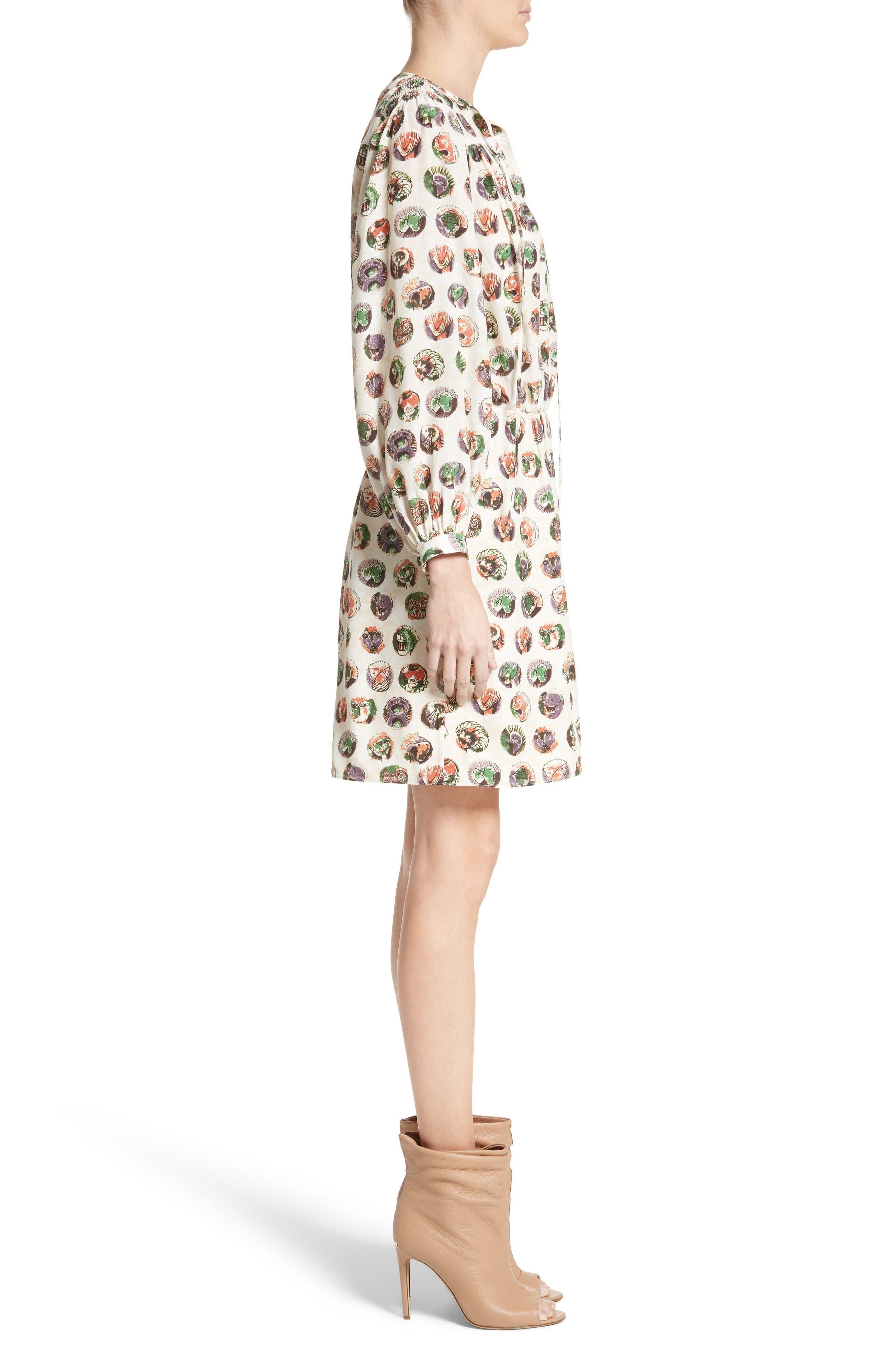 Alternate Image 5  - Burberry Verity Print Mulberry Silk Shirtdress