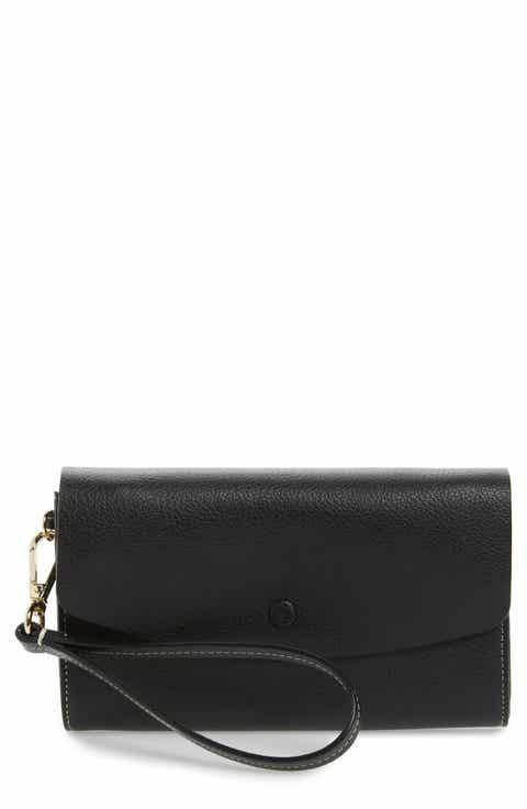 Halogen® Leather Wristlet