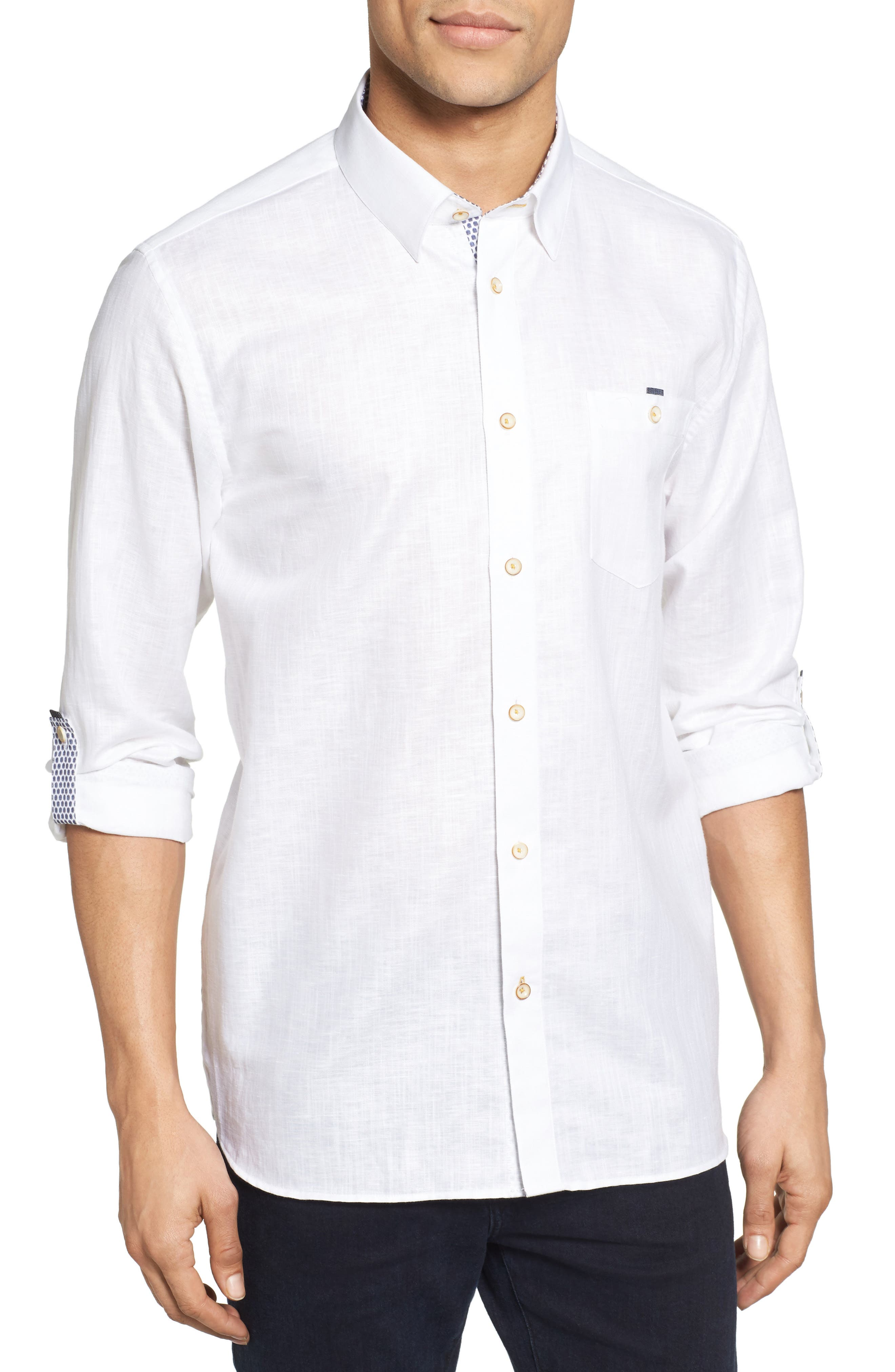 TED BAKER LONDON Laavato Extra Slim Fit Linen