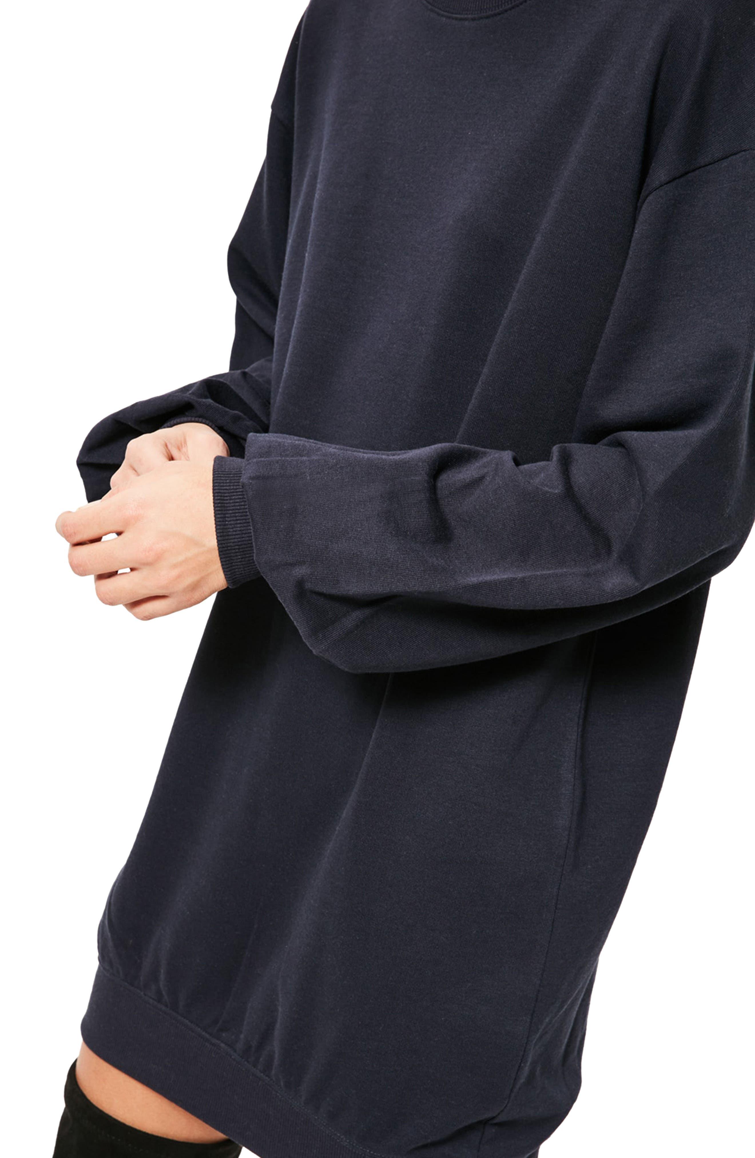 Alternate Image 4  - Missguided Balloon Sleeve Knit Dress