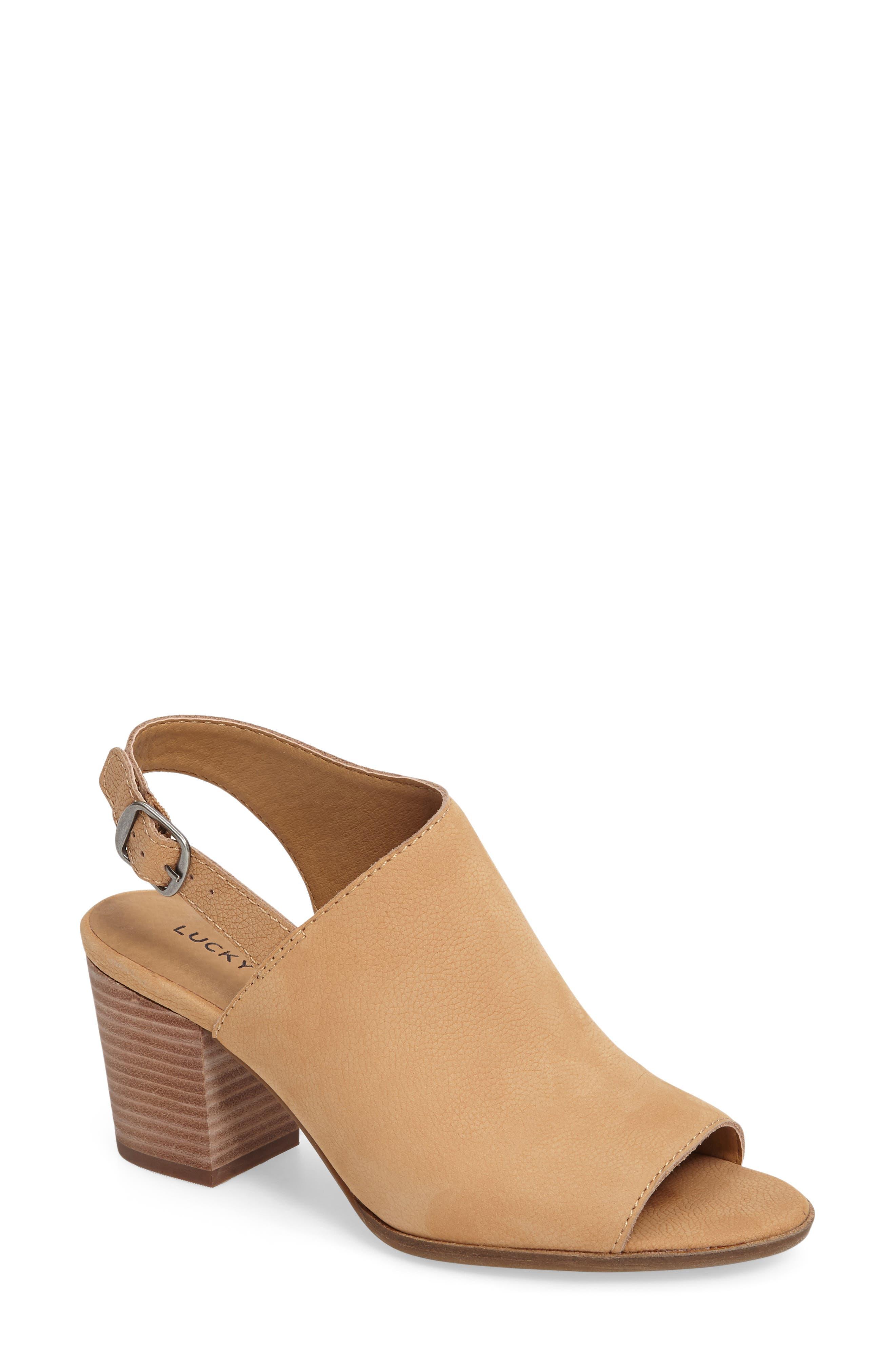 Alternate Image 1 Selected - Lucky Brand Obelia Block Heel Sandal (Women)